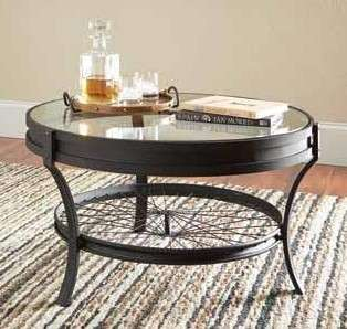 Coaster Black Bicycle Wheel Glass Top Coffee Table Reviews