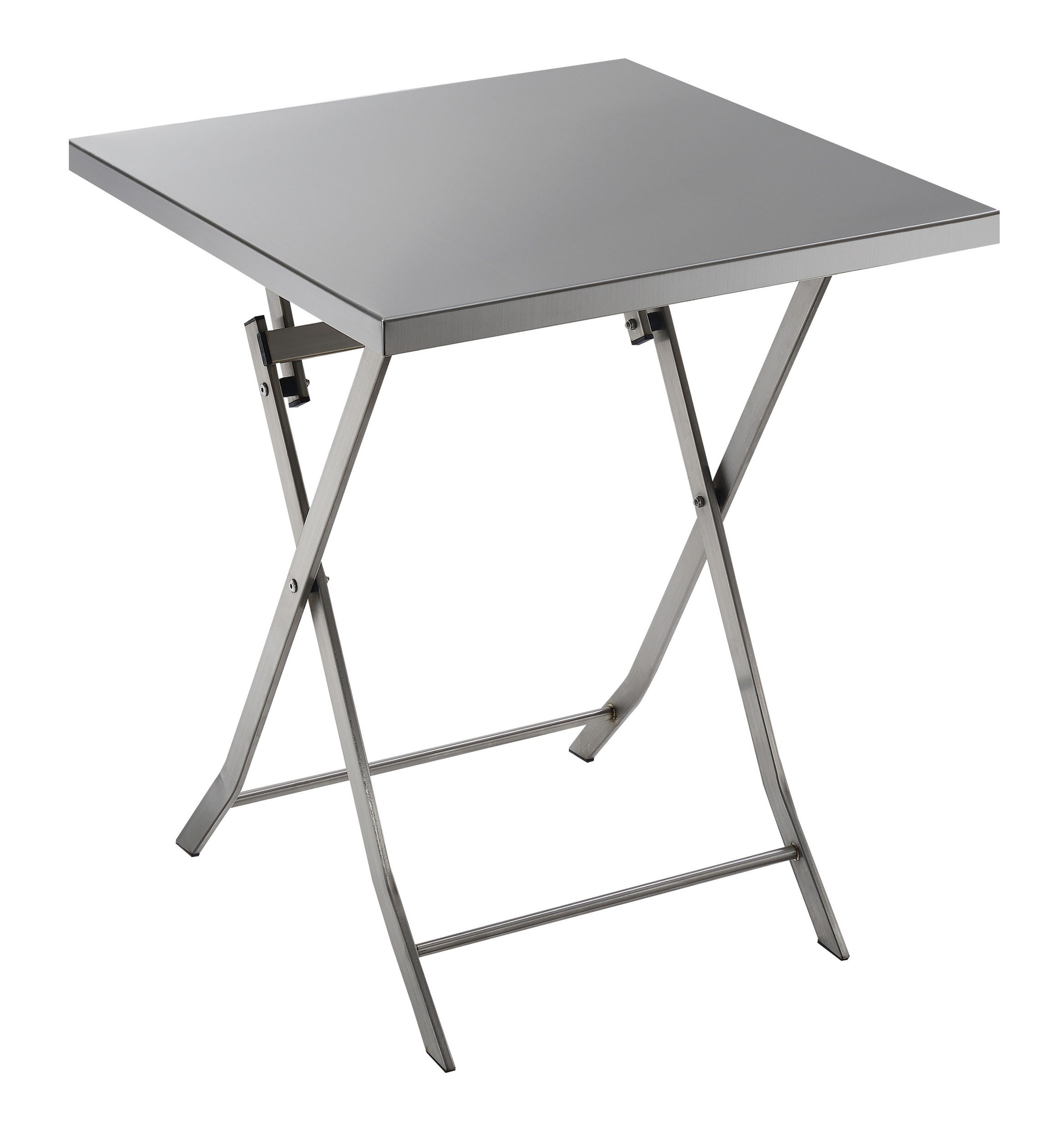 - Furniture Of America Foxy Industrial Stainless Steel Folding Table