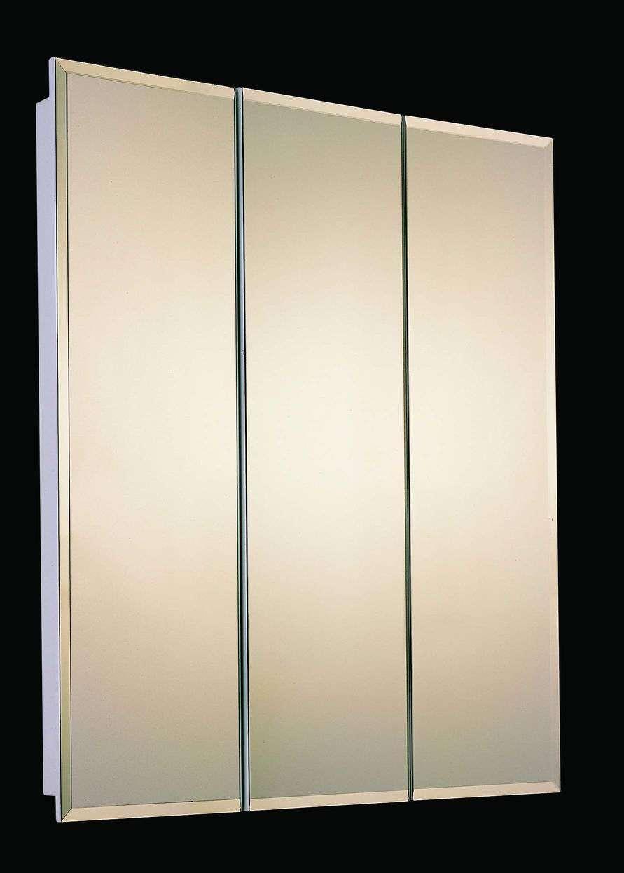 Ketcham Medicine Cabinets Tri View White Baked Enamel 30 X 24