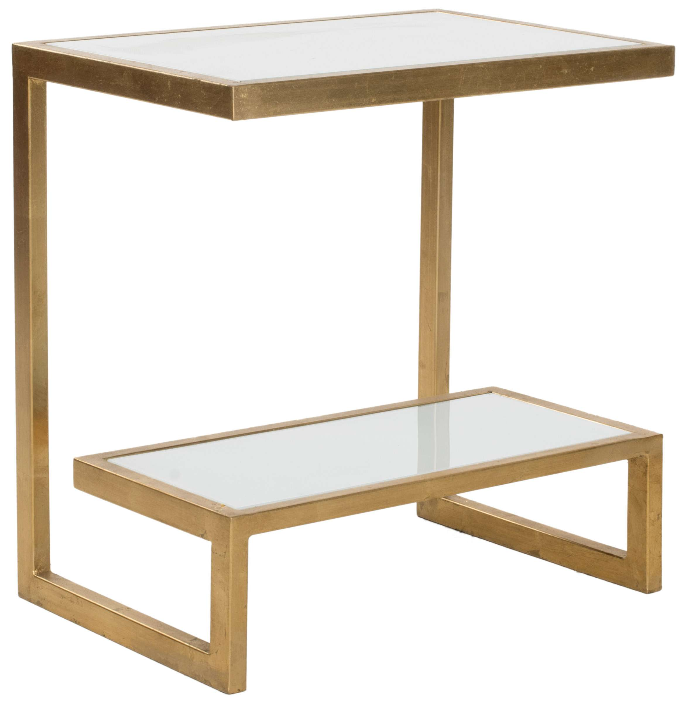 - Safavieh Kennedy Mirror Top Gold & White Accent Table & Reviews