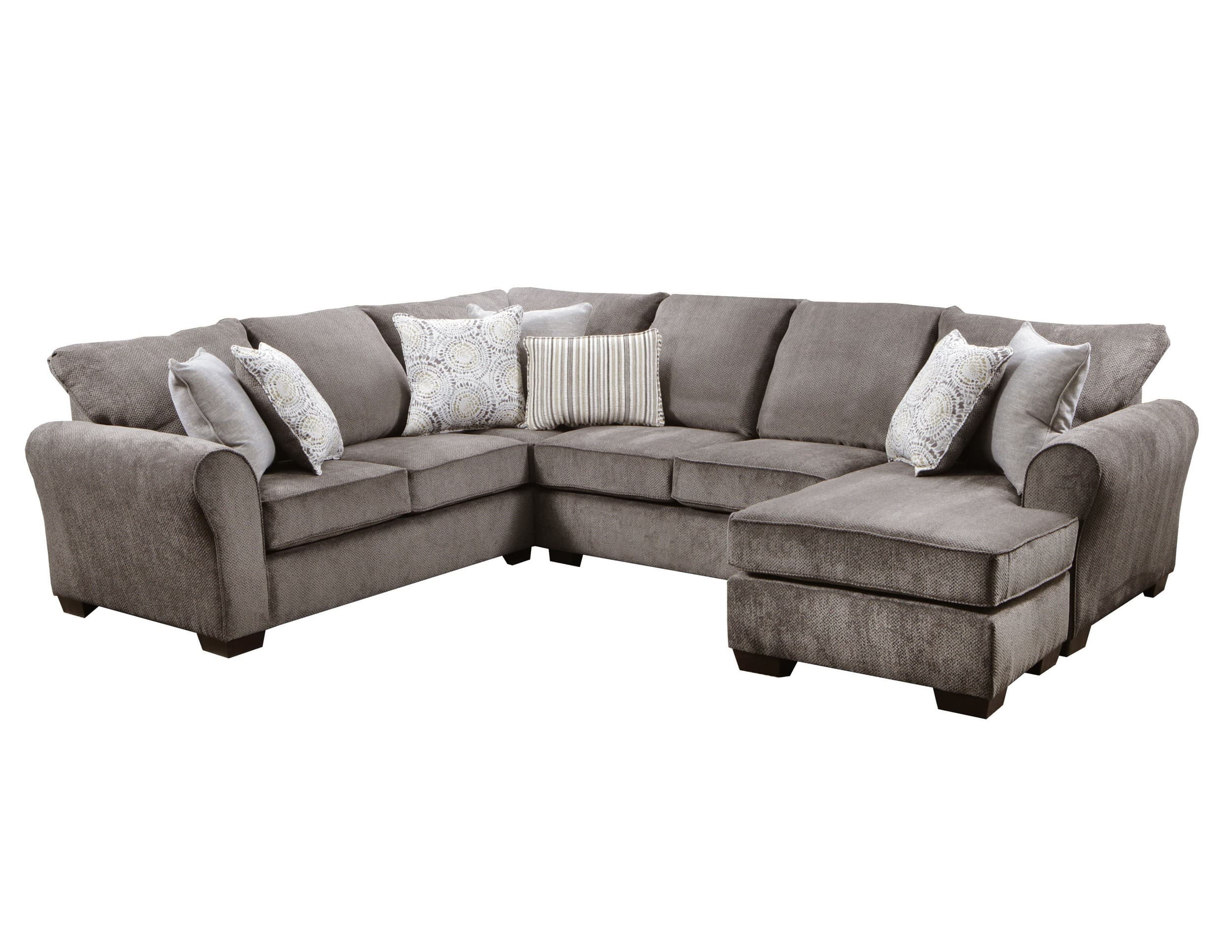 Simmons Upholstery Harlow Ash 2 Piece Sectional Sofa Reviews