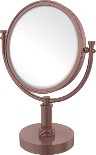 Allied Brass WM-4//2X-CA 8 Inch Wall Mounted Make-Up Mirror 2X Magnification Antique Copper