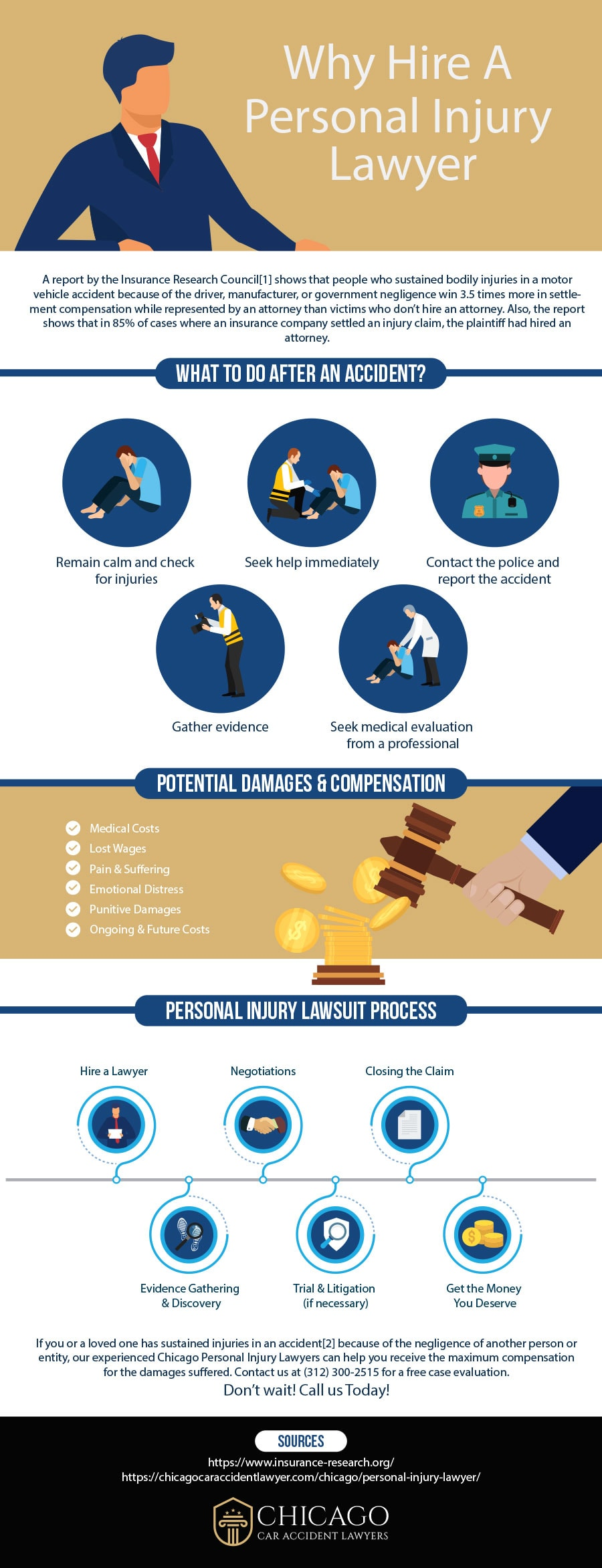 Why hire a personal injury lawyer in Chicago, IL