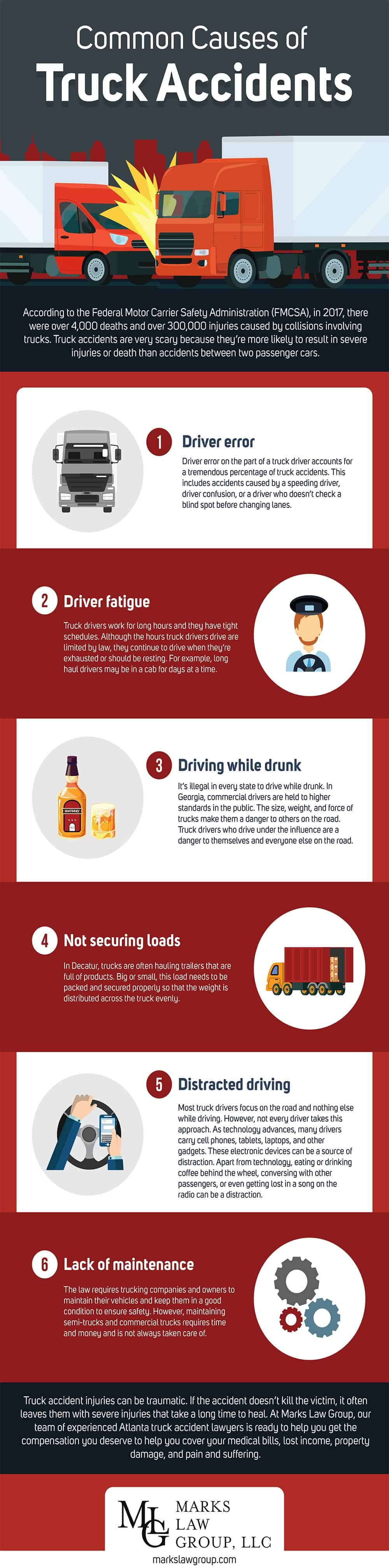Truck Accidents - Infographic