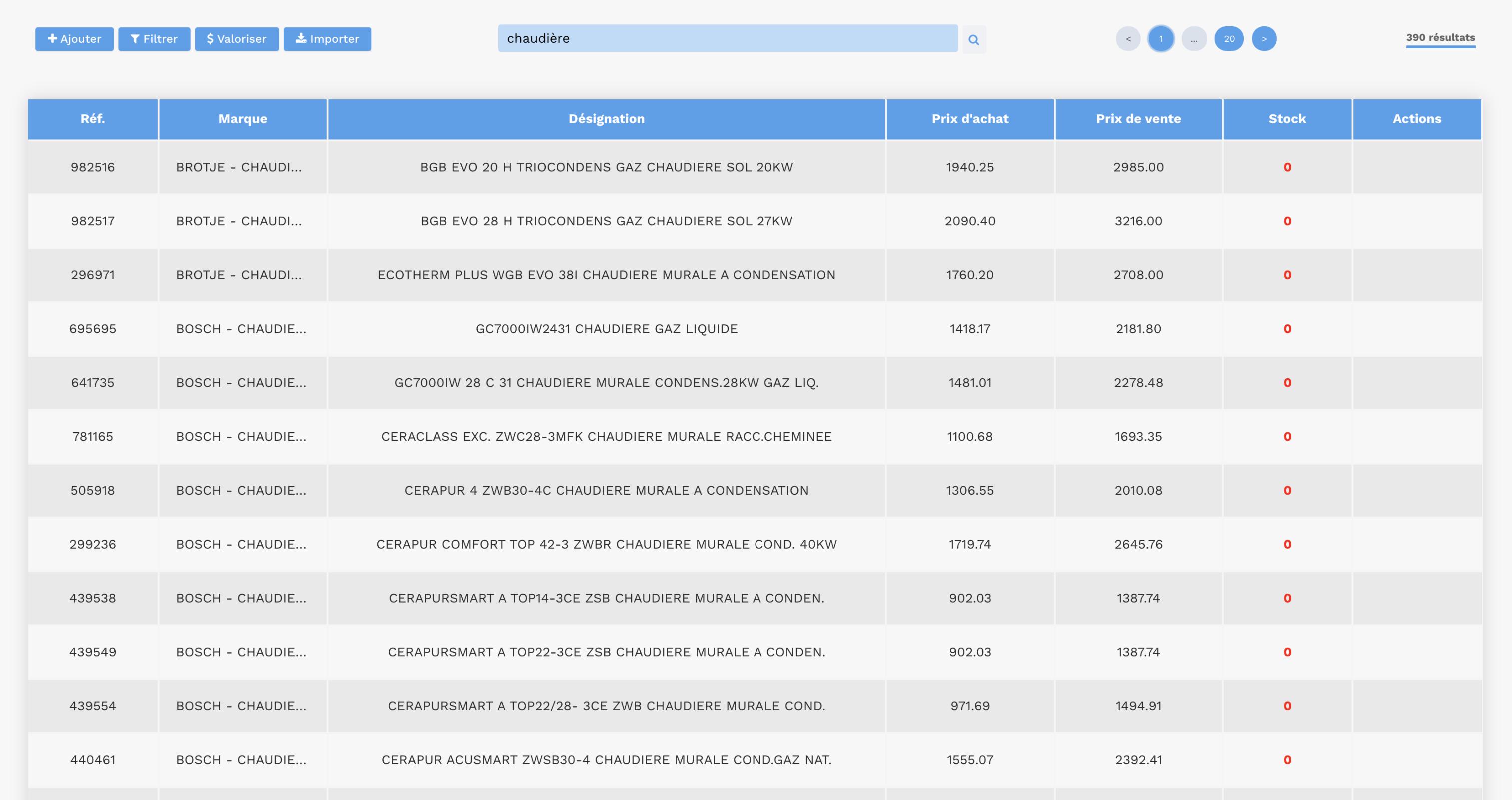 Gestion de stock - logiciel gestion de stock maintenance - GMAO