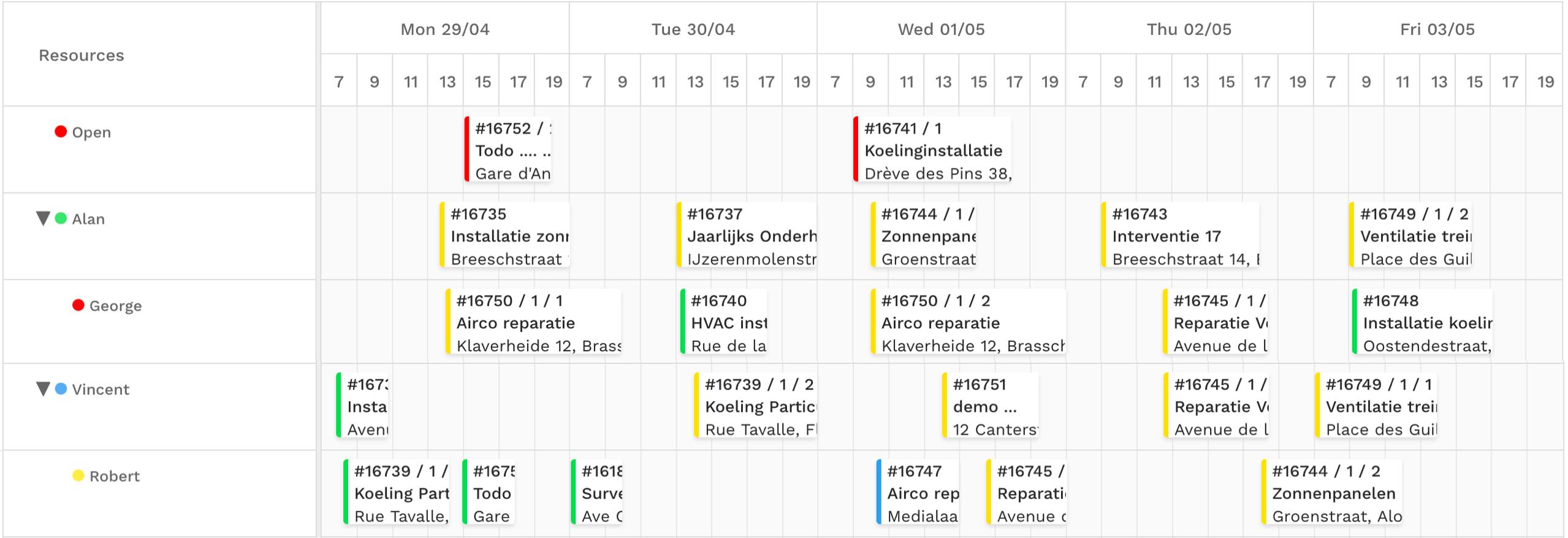 View of Yuman week planning