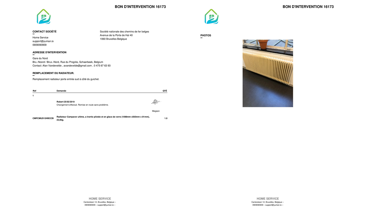 workorder pdf generation yuman