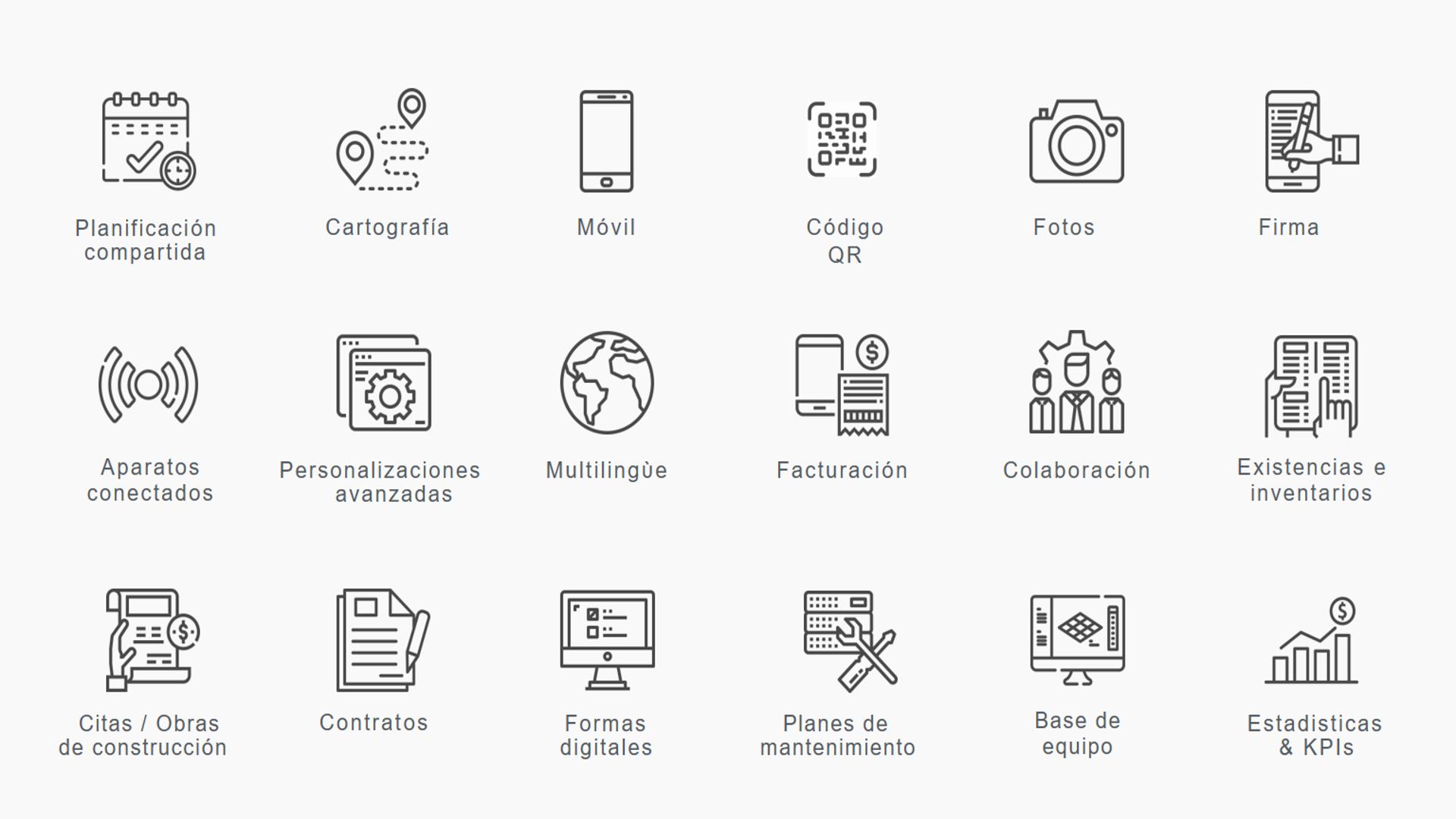 Software del Sistema de Gestión de Mantenimiento Computarizado (CMMS) de Yuman - Lista de características