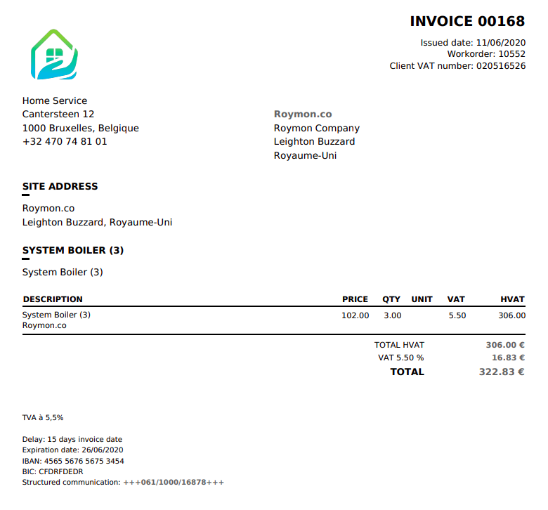 intervention maintenance invoicing software maintenance management company invoices