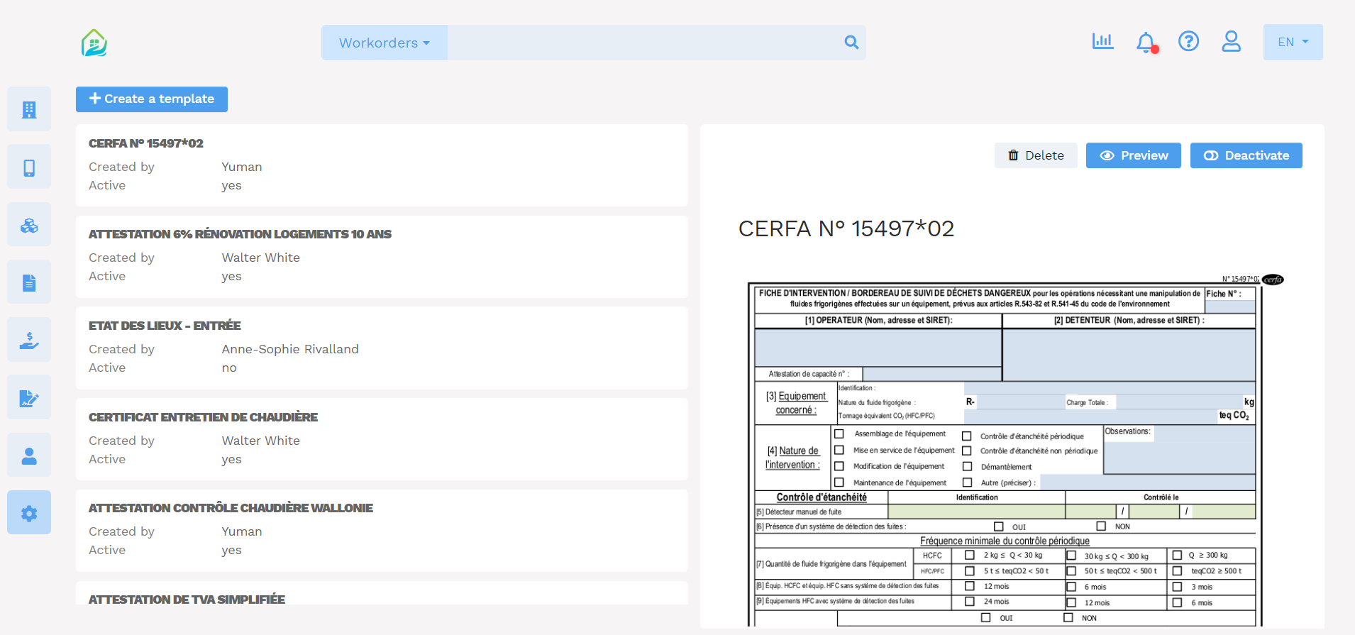 Form management software - Yuman CMMS - Forms data entry pdf document