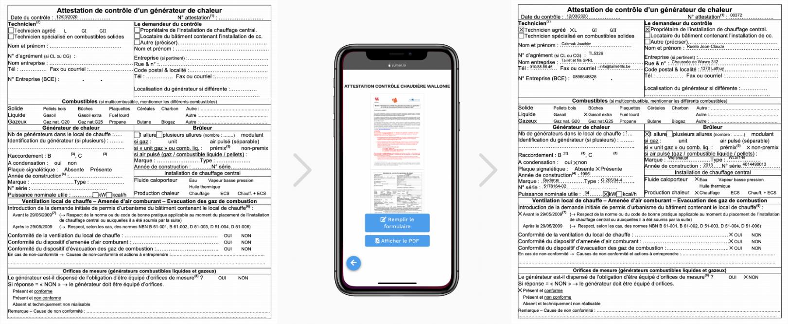 Business form management software - Yuman CMMS - Forms data - sending clients pdf documents