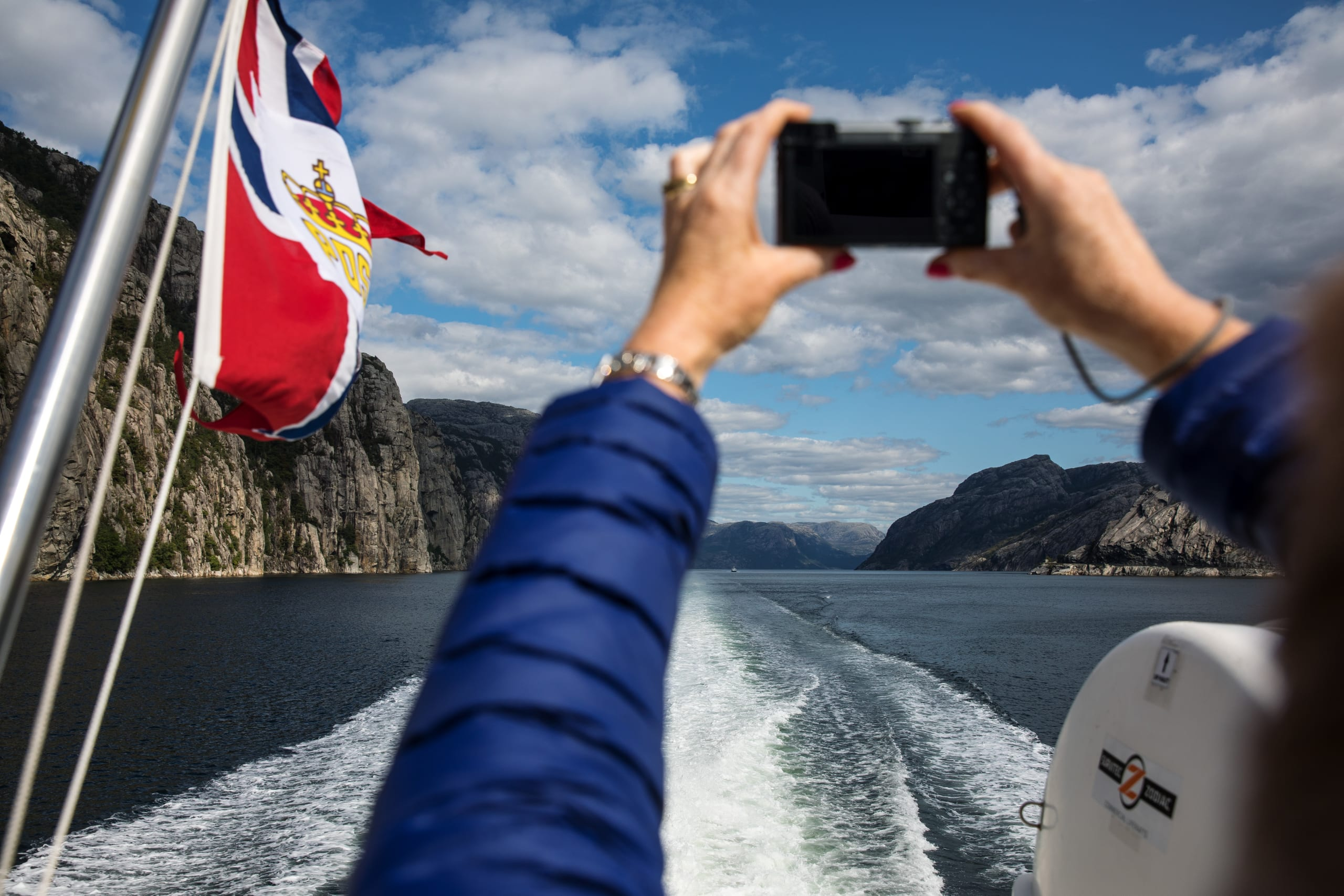 Taking phot of the Lysefjord
