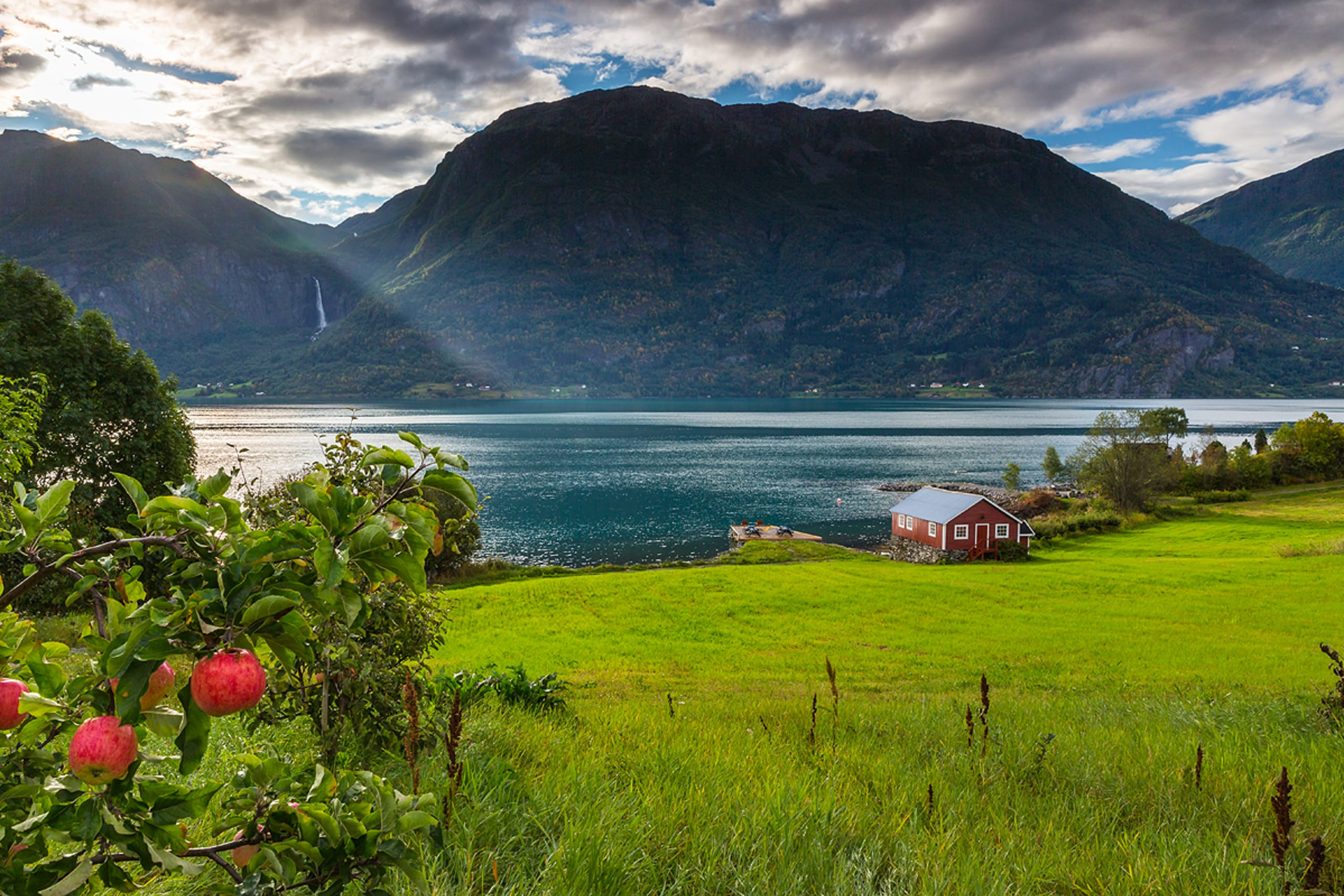 Rural surroundings along the Sognefjord
