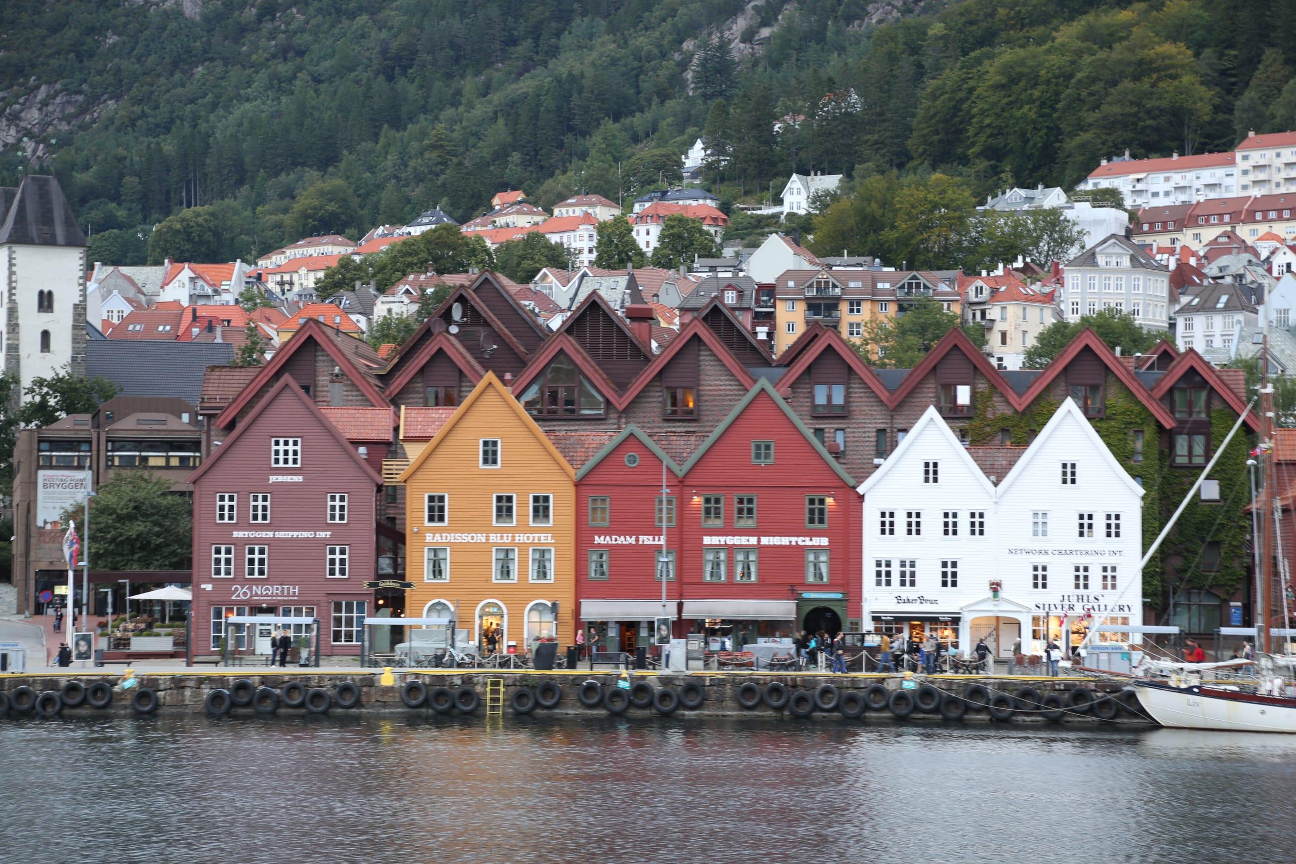 Bryggen wharf in Bergen