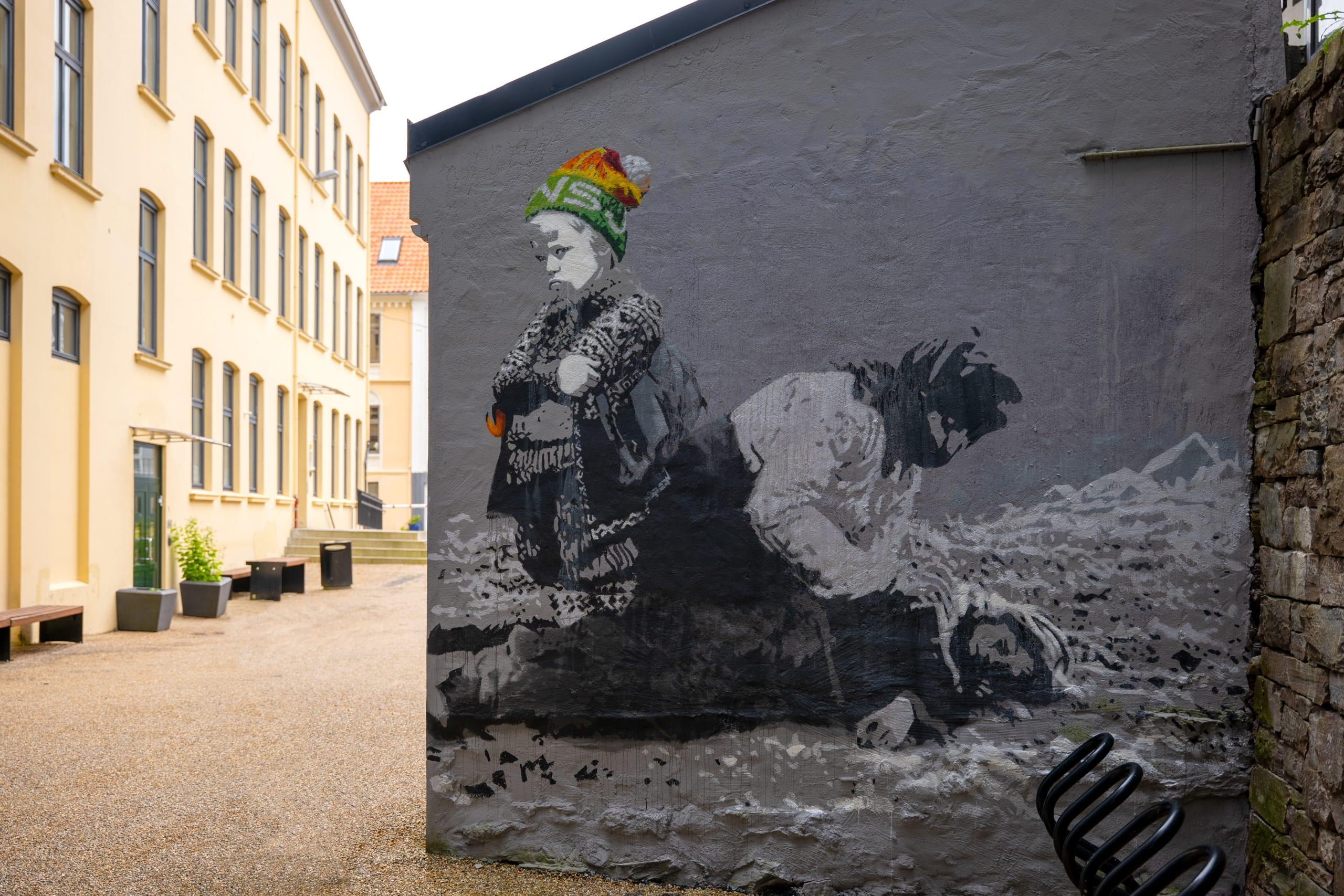 Street art in Bergen by the artist AFK
