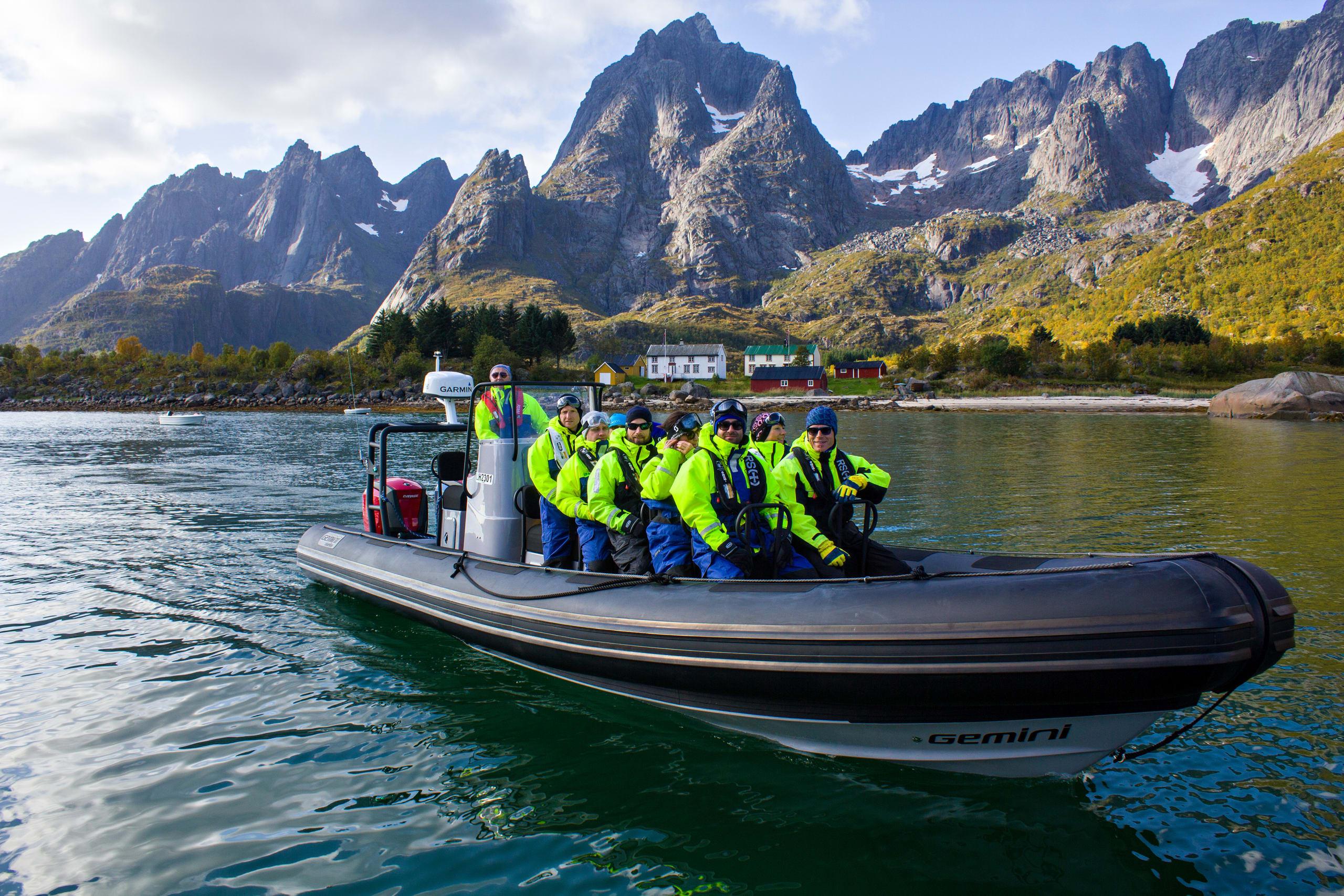 Rib safari in Trollfjorden in Lofoten