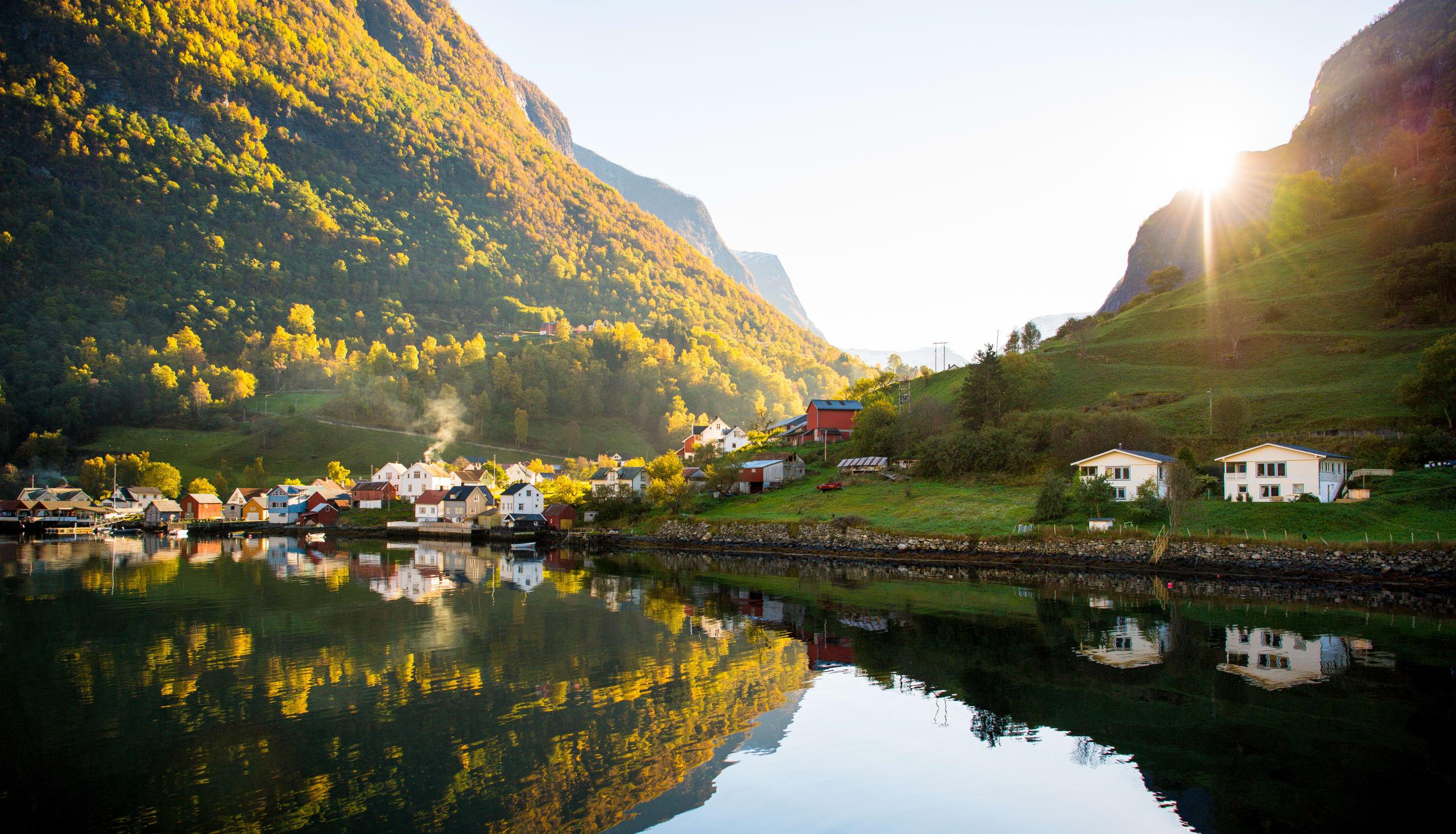 Undredal fjord village