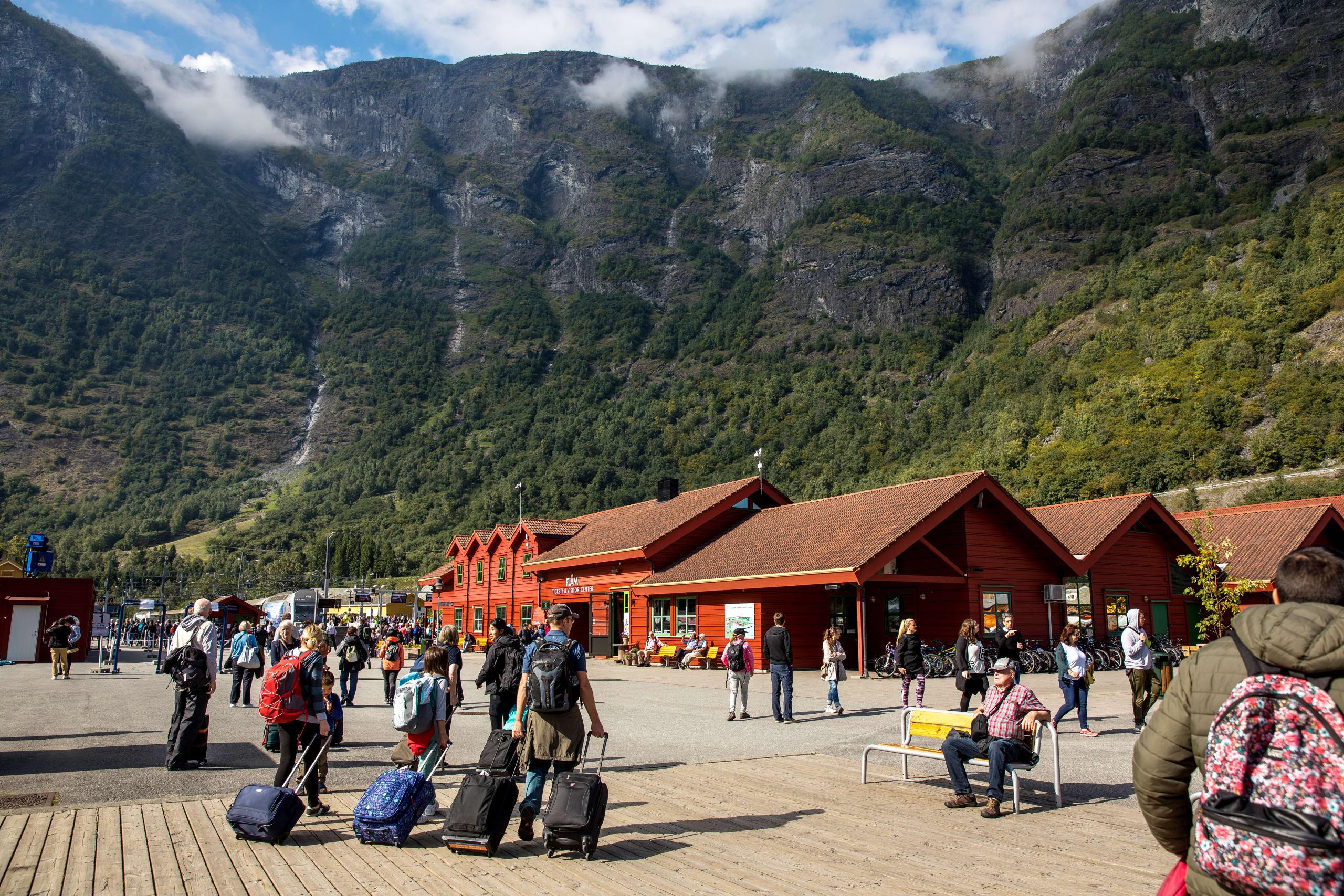 Turists in Flåm