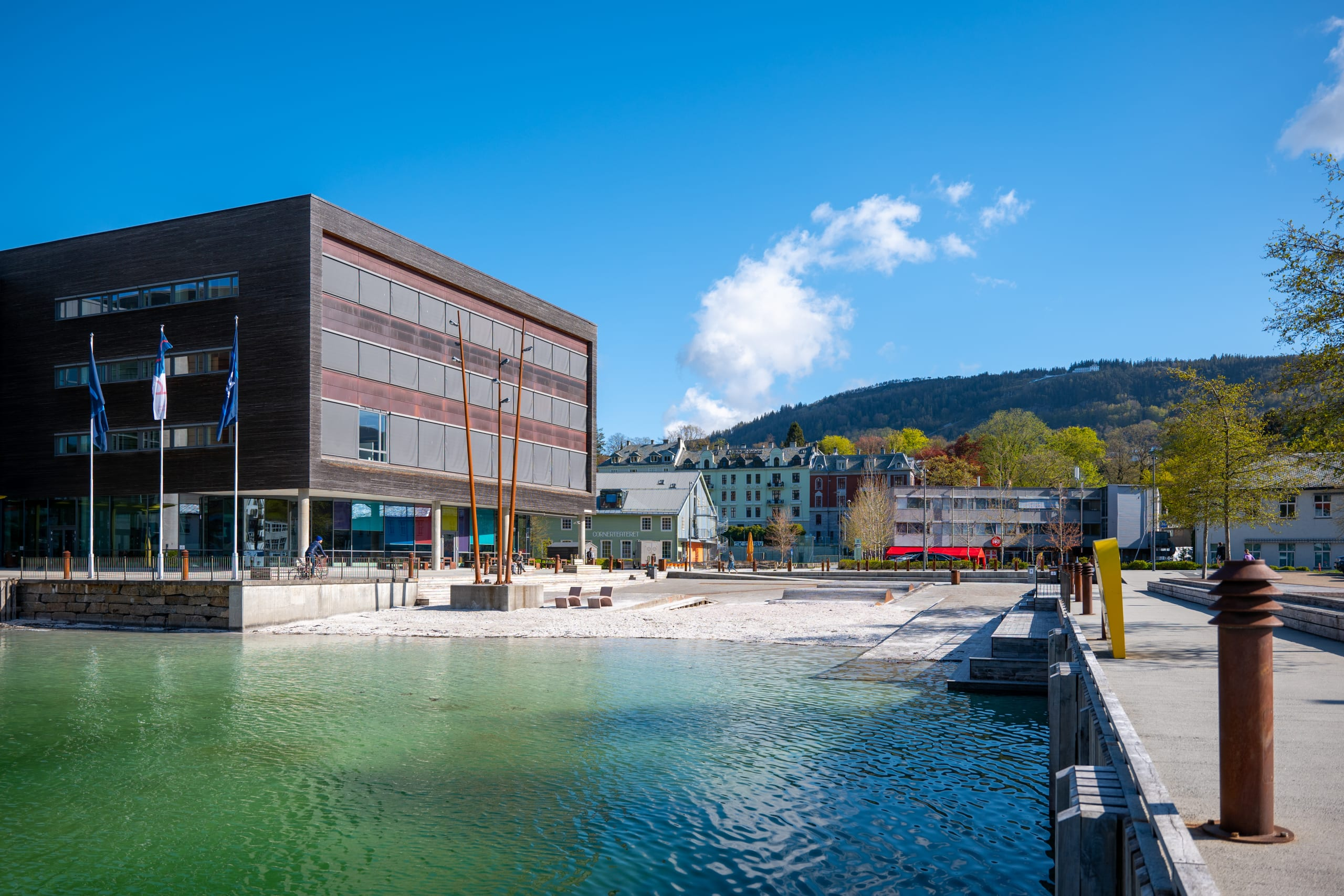 Urban beach at Marineholmen in Bergen