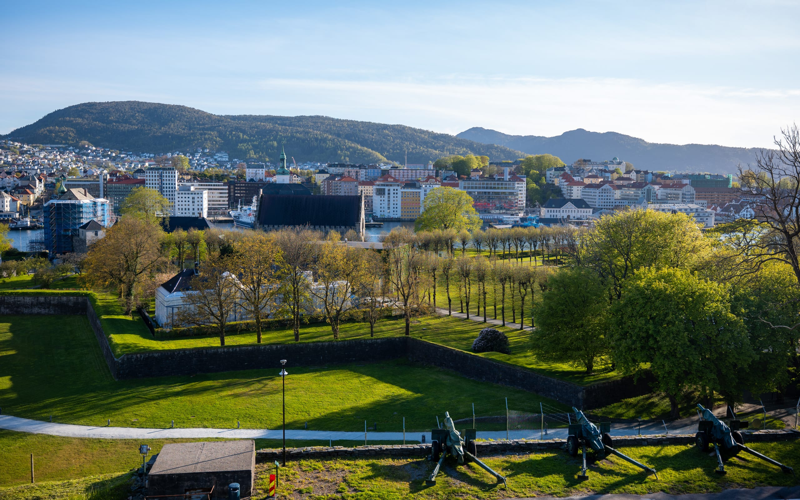 View from Bergenhus Fortress