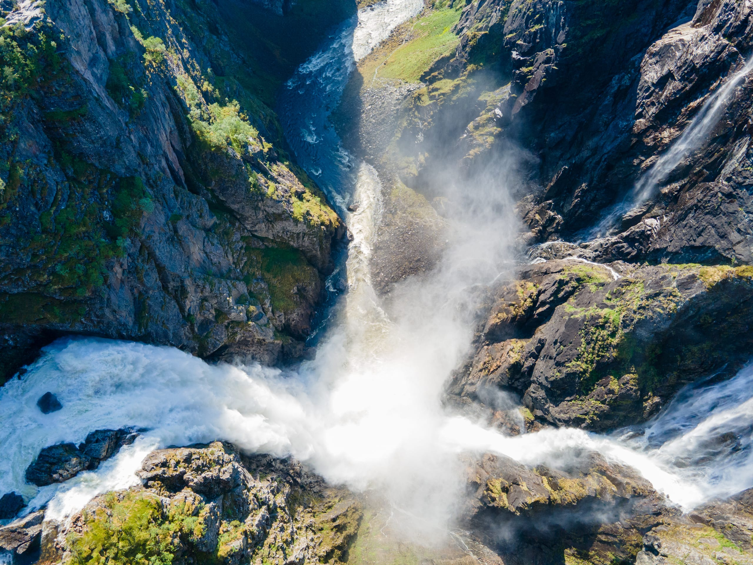 Vøringsfossen waterfall from above