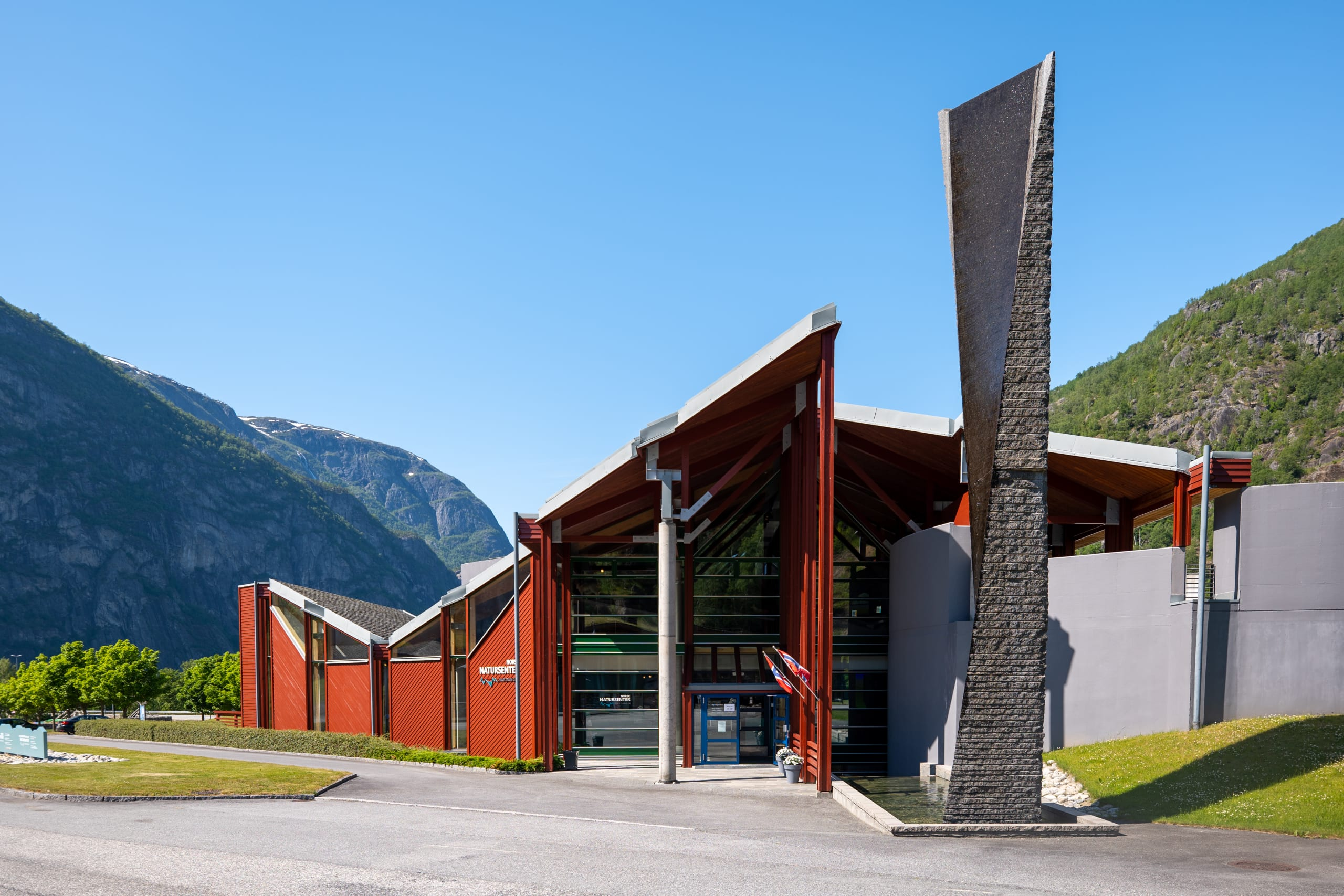 The entrance of the Norwegian Nature Centre in Hardanger