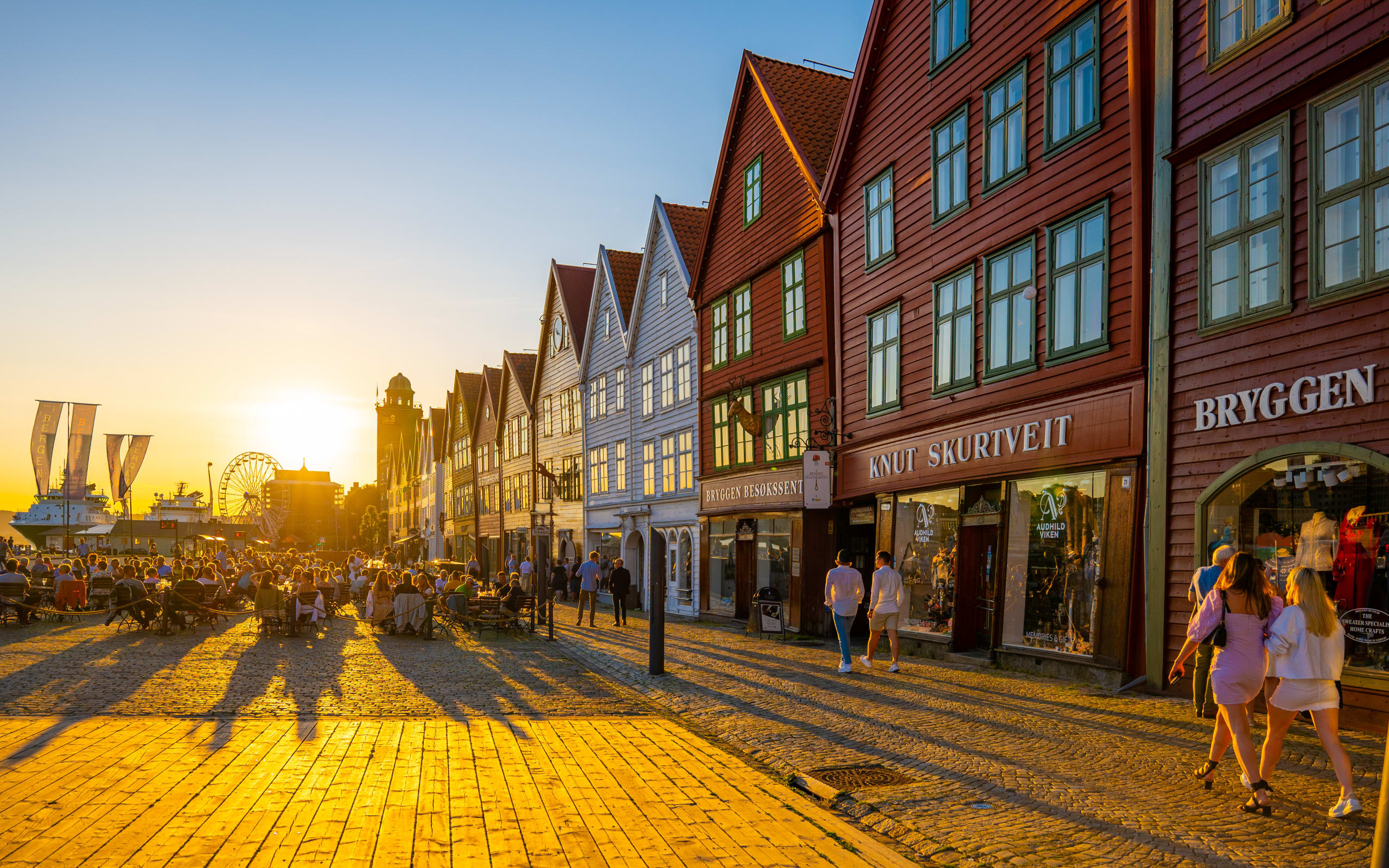 Sunset at Bryggen Wharf