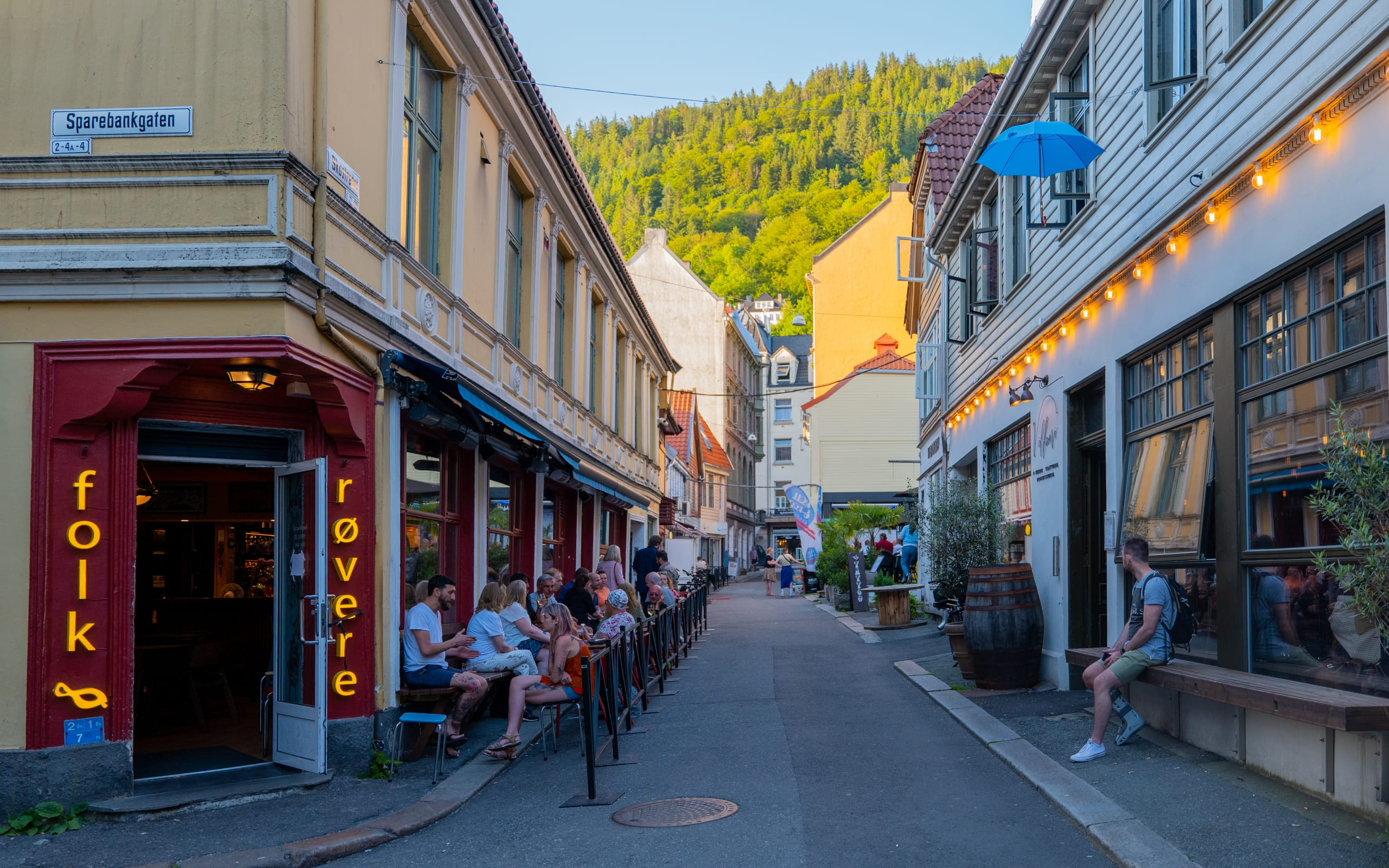 Skostredet bar street in Bergen