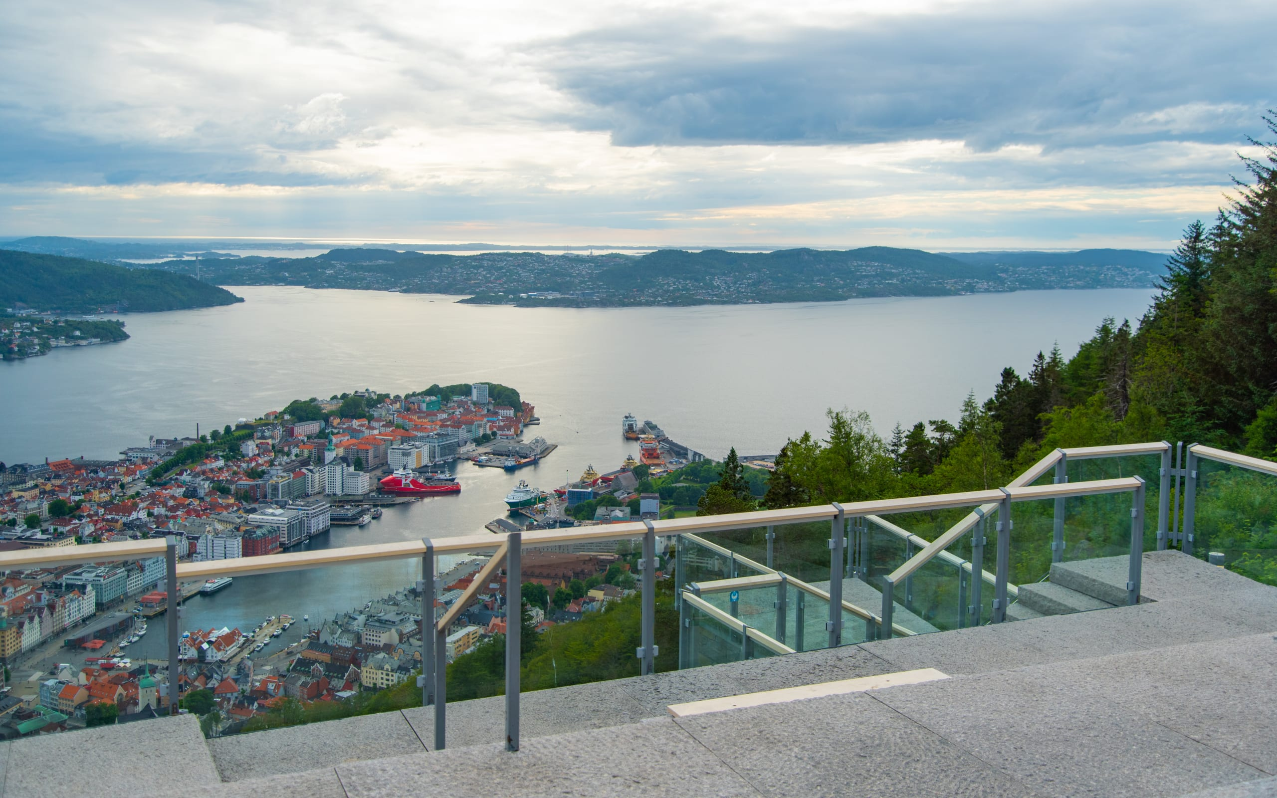View point on Mount Fløyen