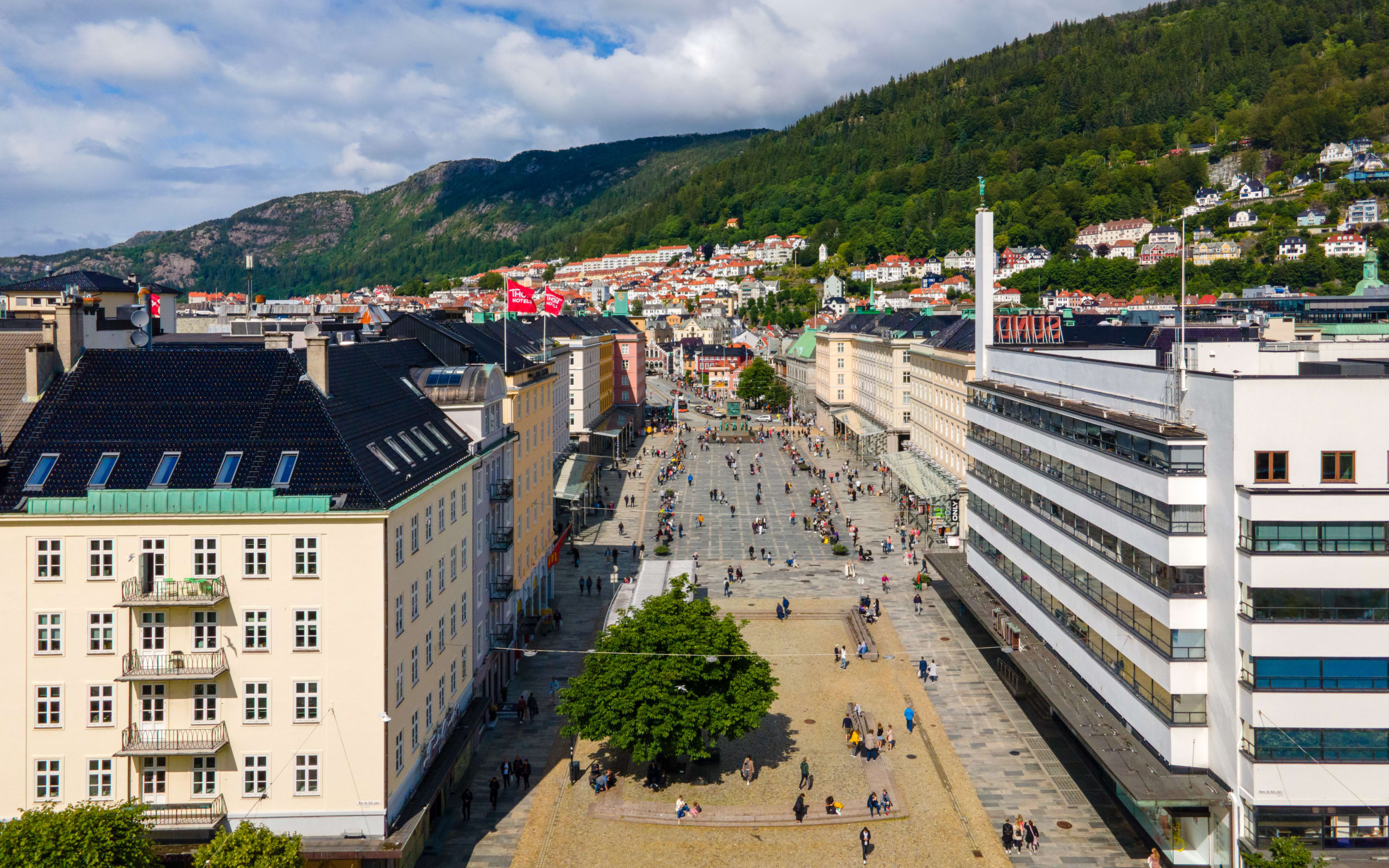 The main city squares in Bergen