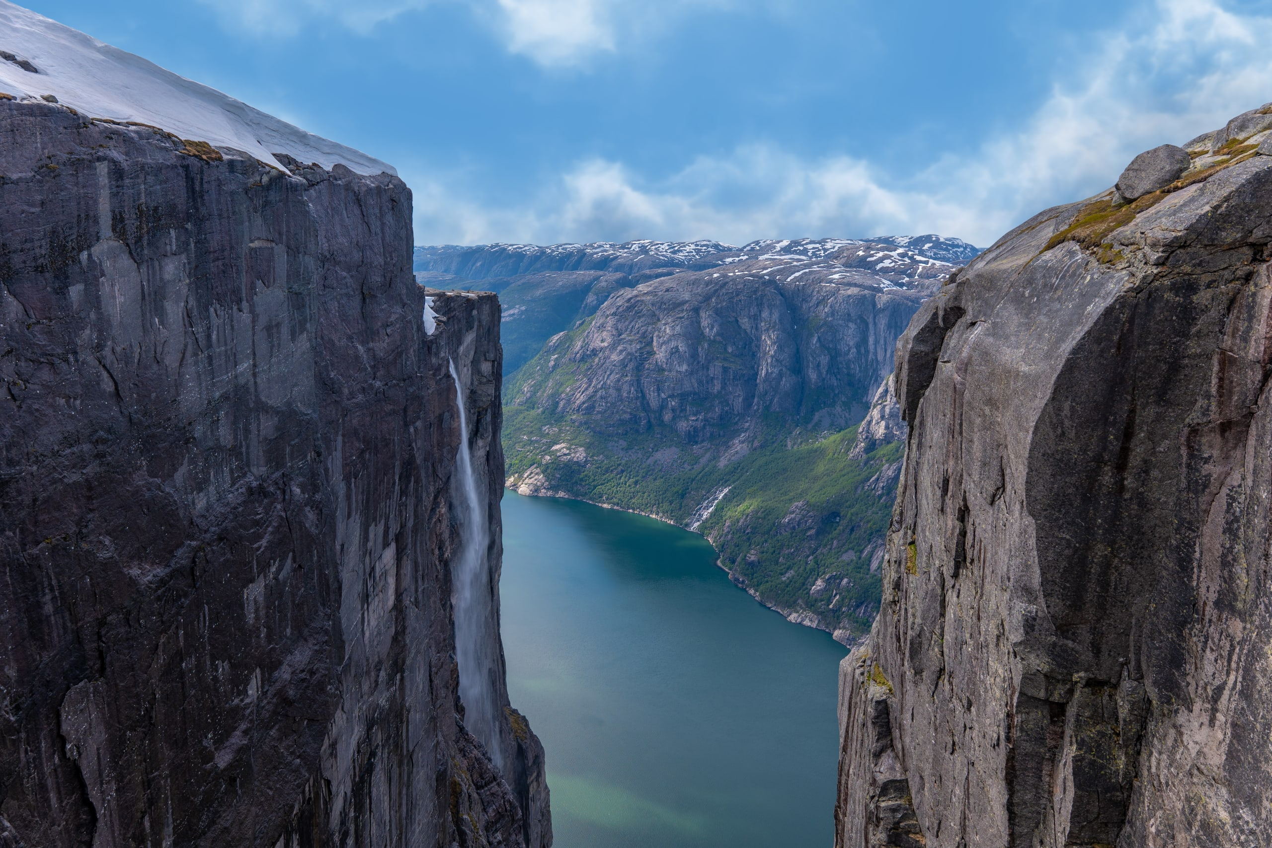 The Lysefjord from the plateau of Kjerag