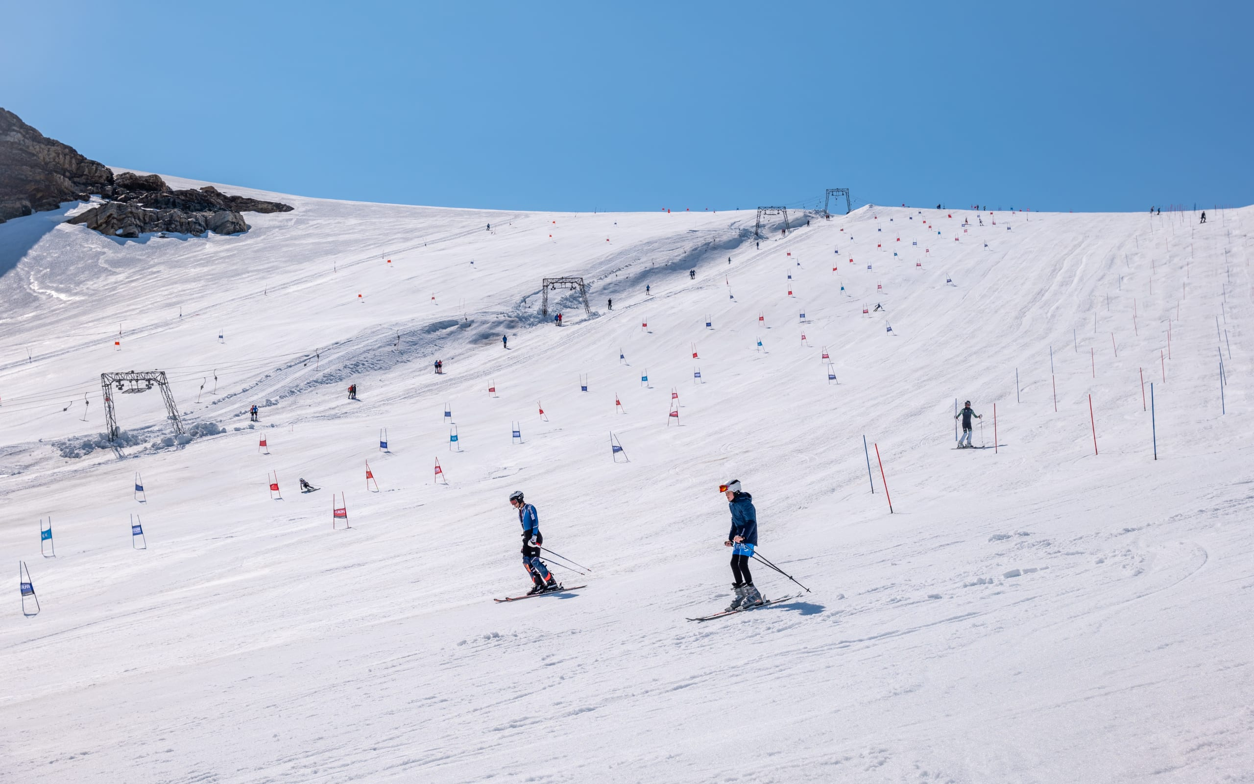 Summer skiing at Folgefonna Glacier resort
