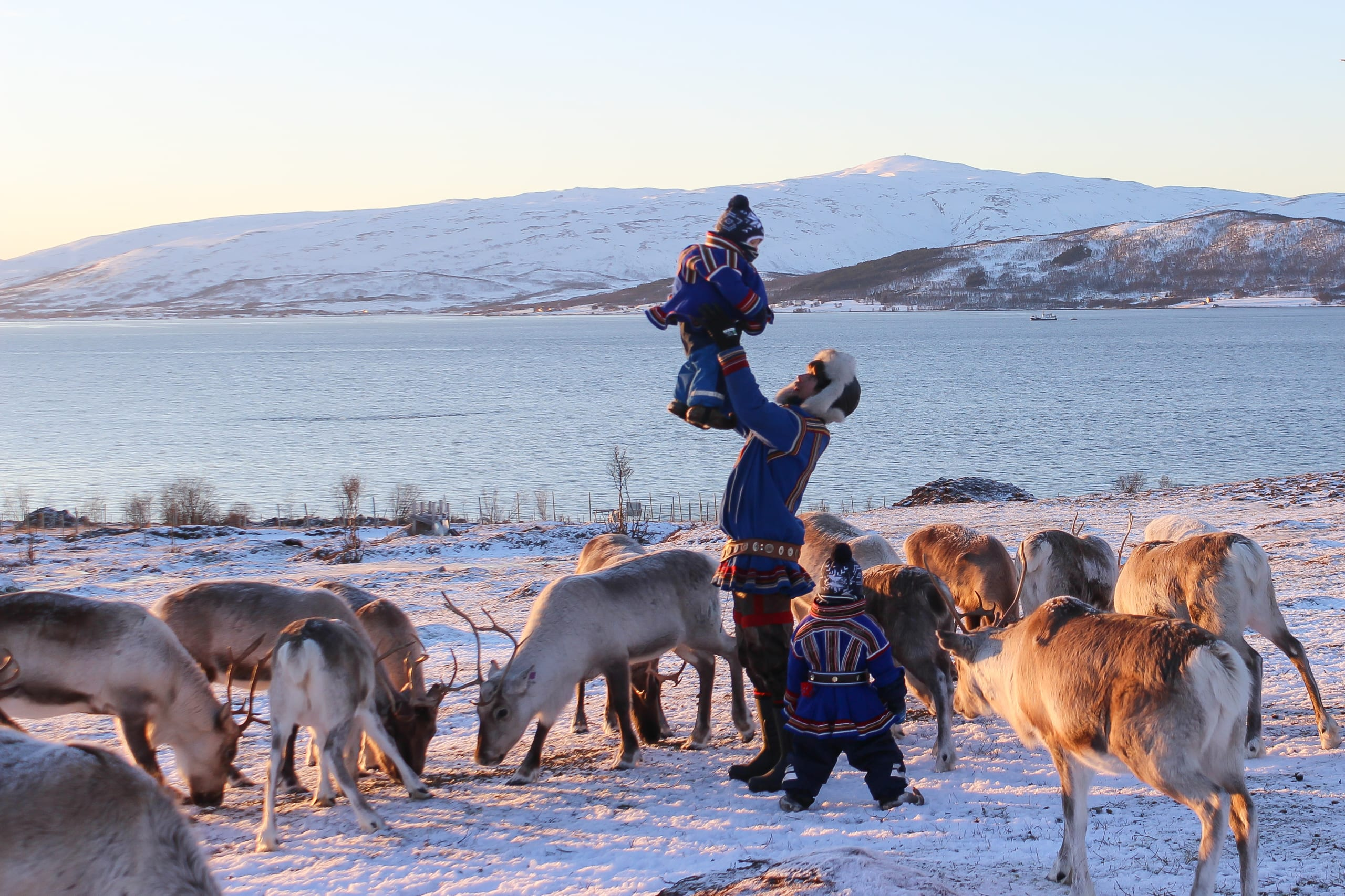 Sami family in Tromsø