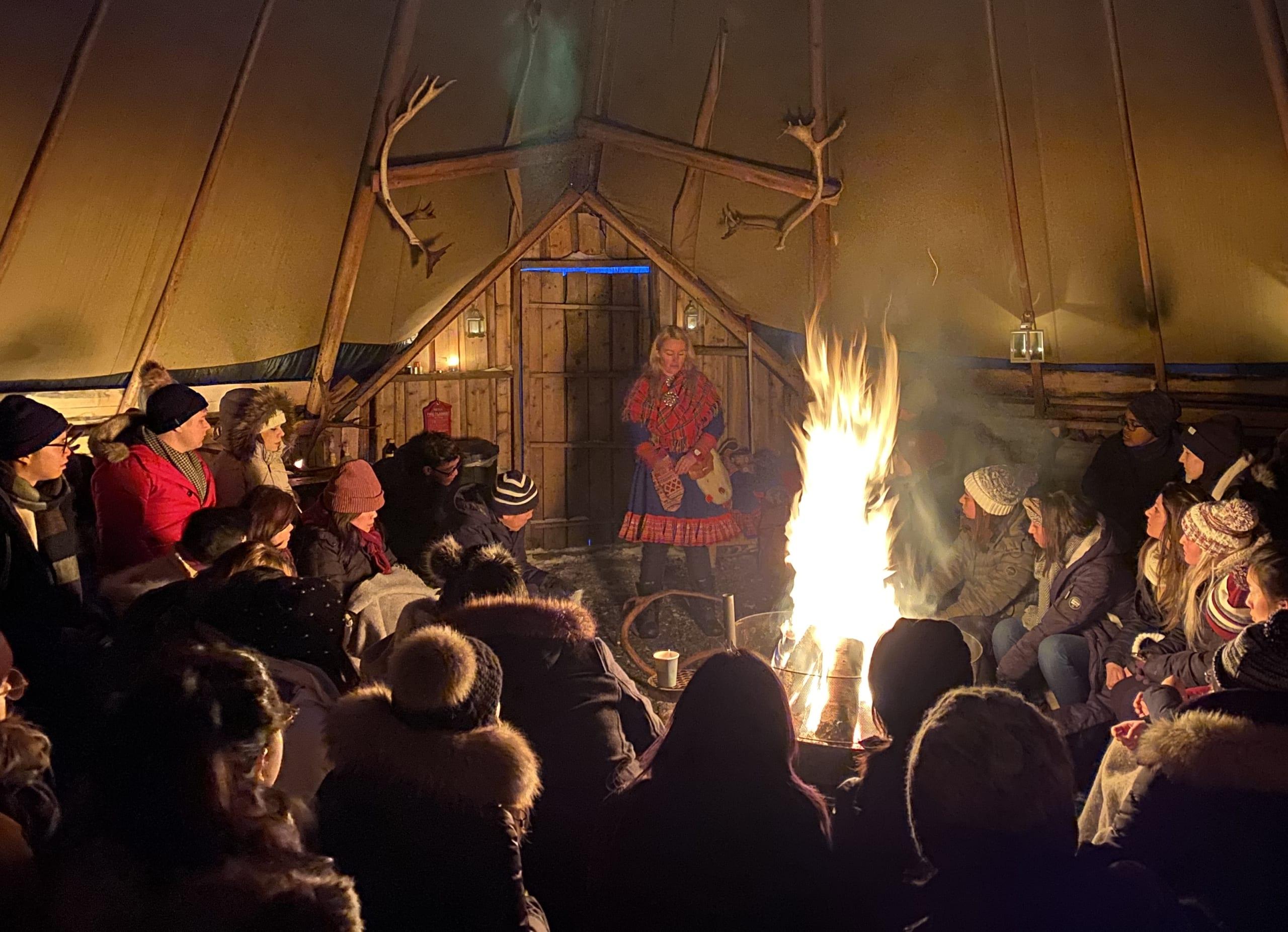 Cultural show in a Sami hut in Tromsø