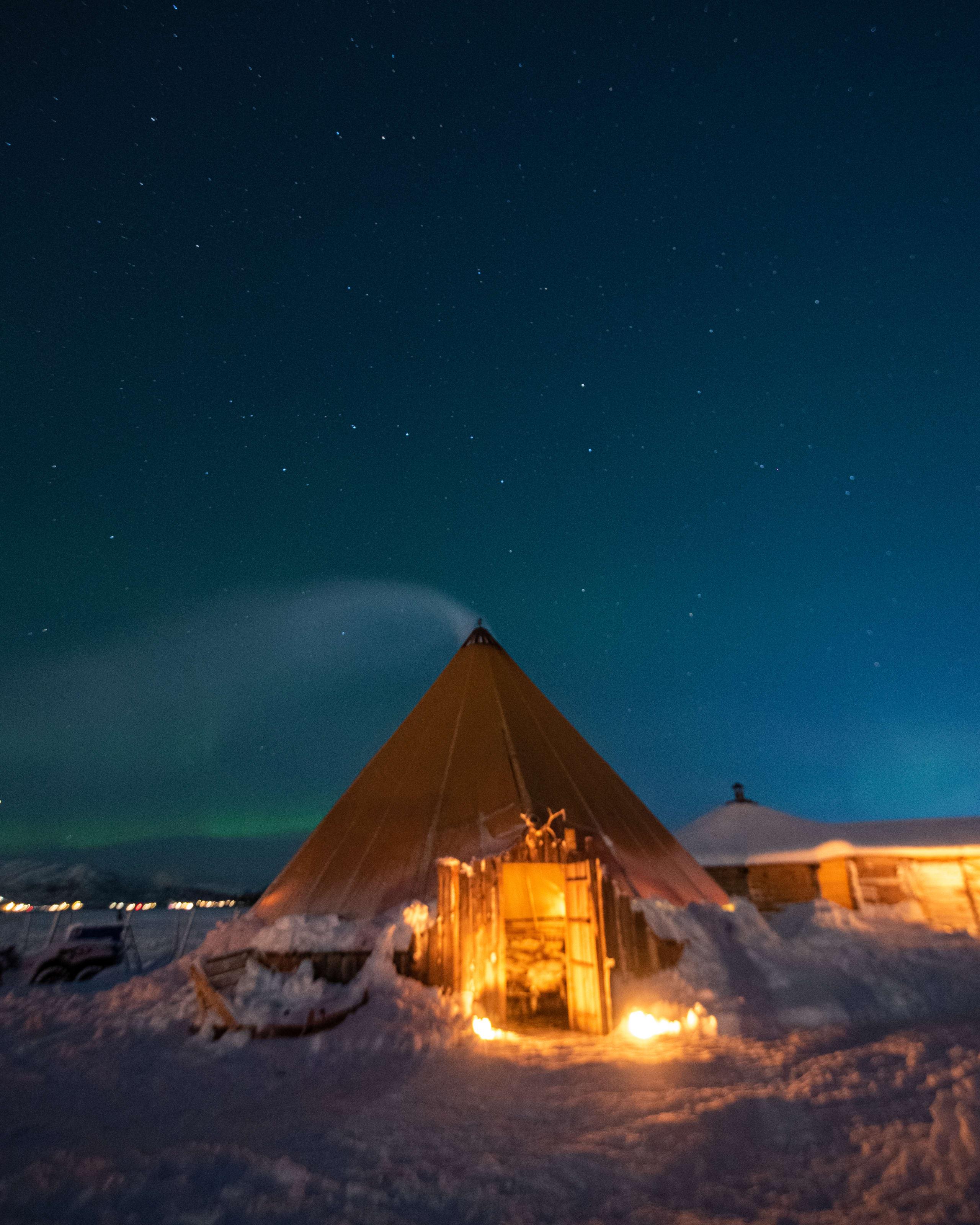 Starry sky in Arctic Tromsø
