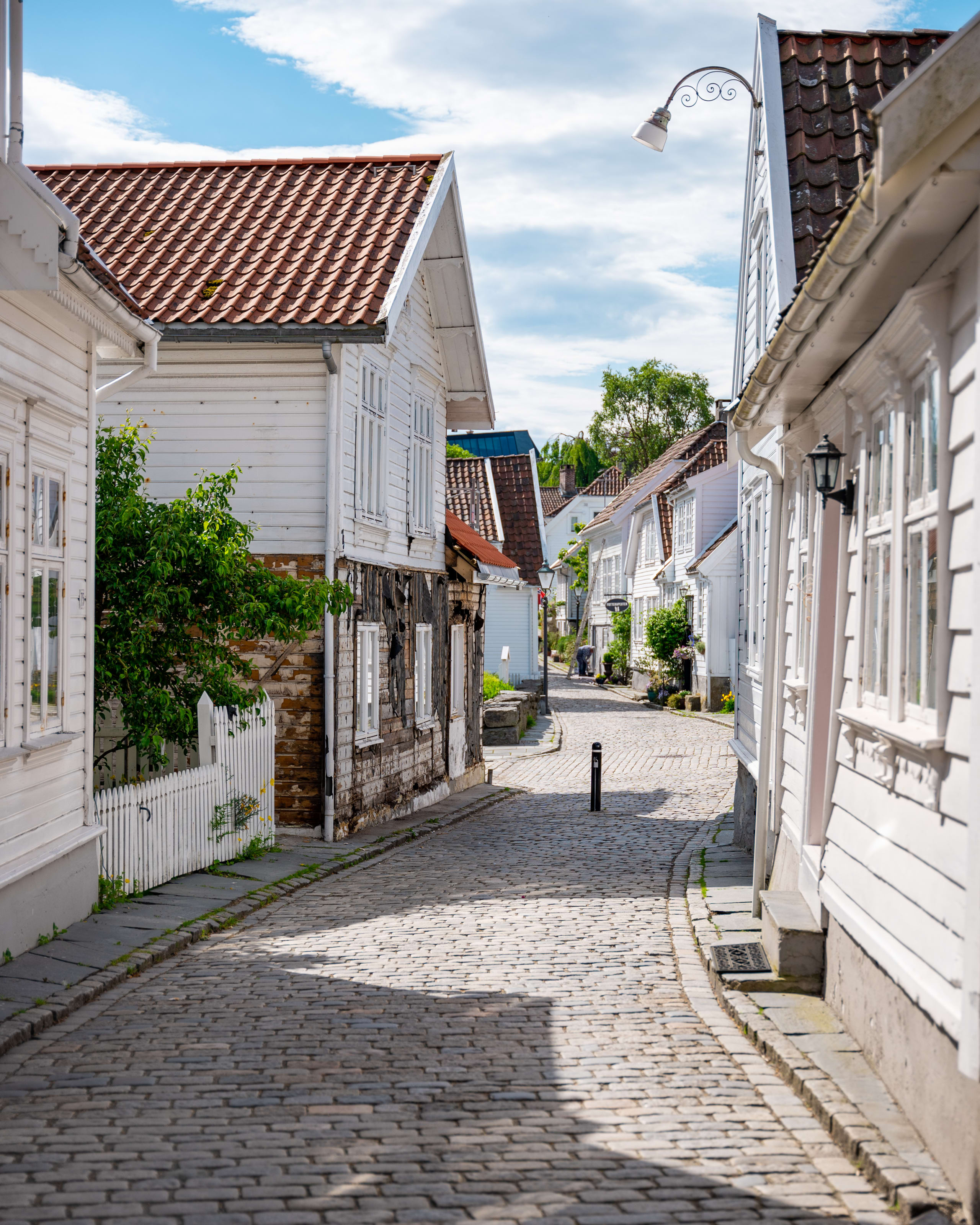 Walking street in the old parts of Stavanger