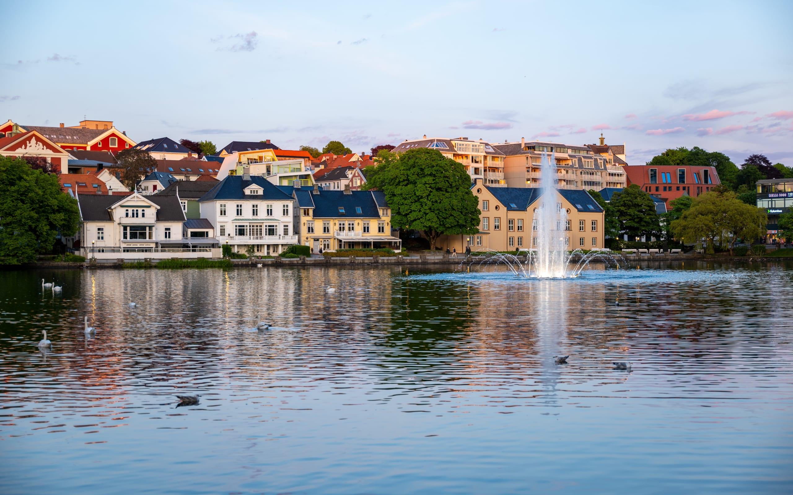 Breiavatnet lake in Stavanger