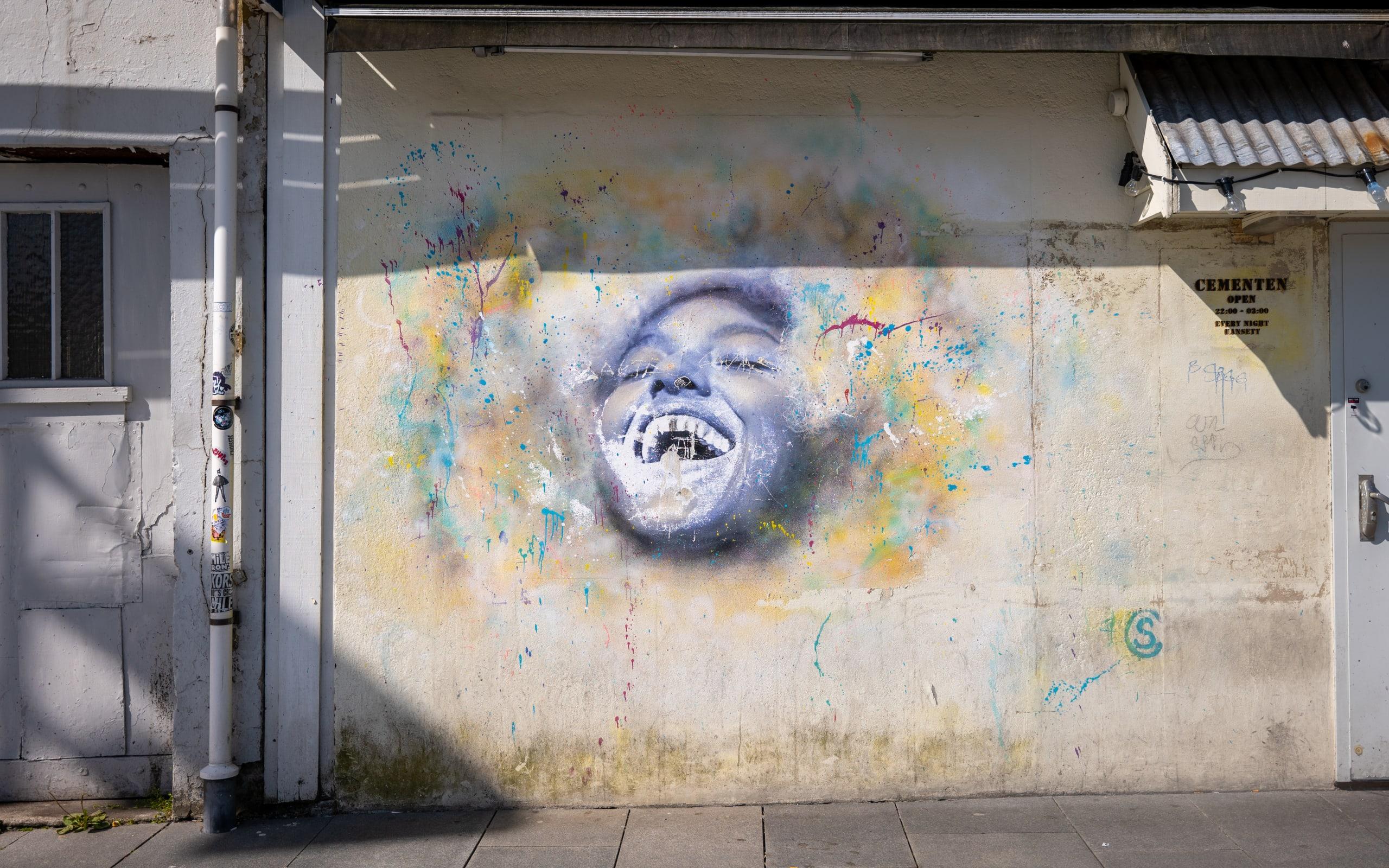 Street art in the city of Stavanger