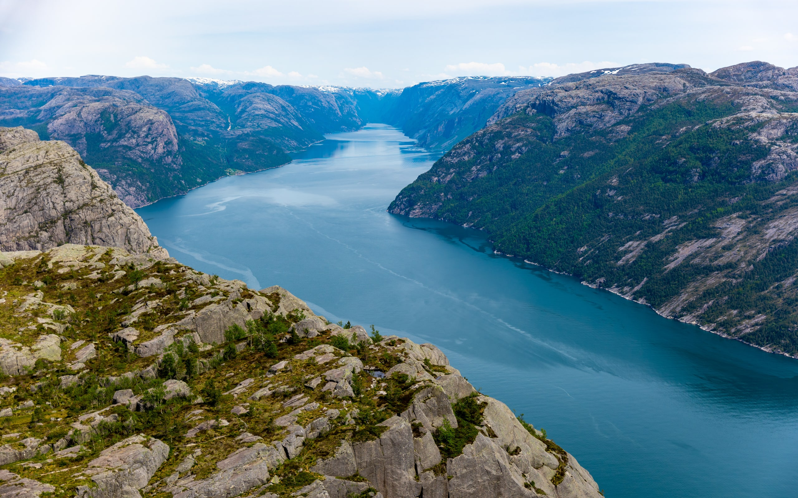 Views of Lysefjord from Preikestolen