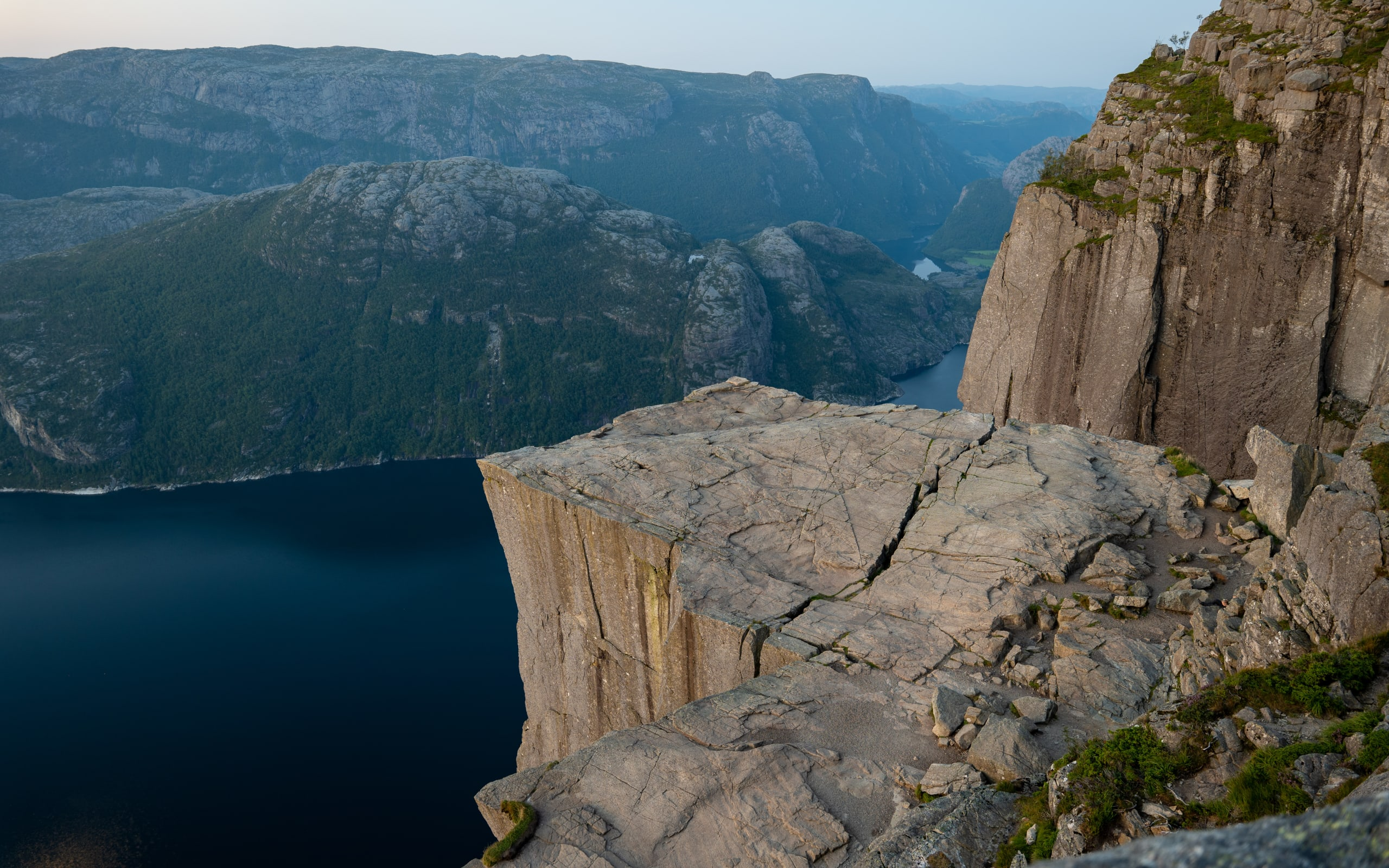 Pulpit Rock towering above the Lysefjord