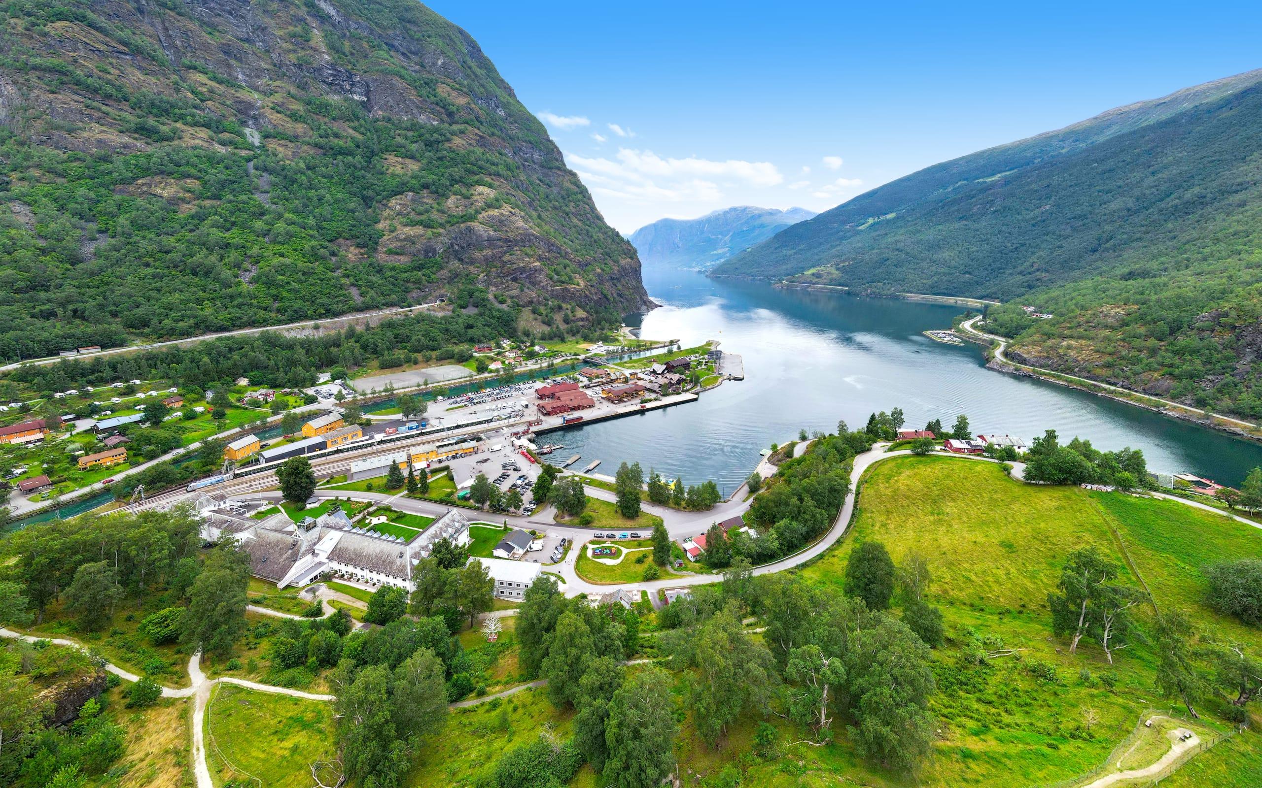 Flåm fjord village