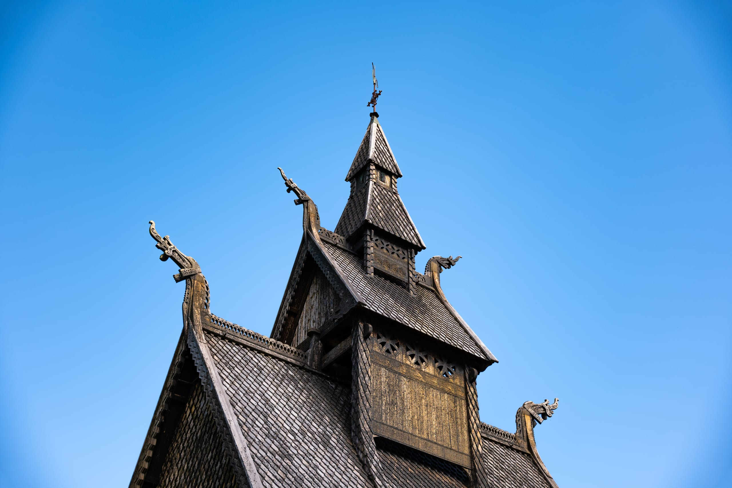 Details of Viking art on Hopperstad Stave church