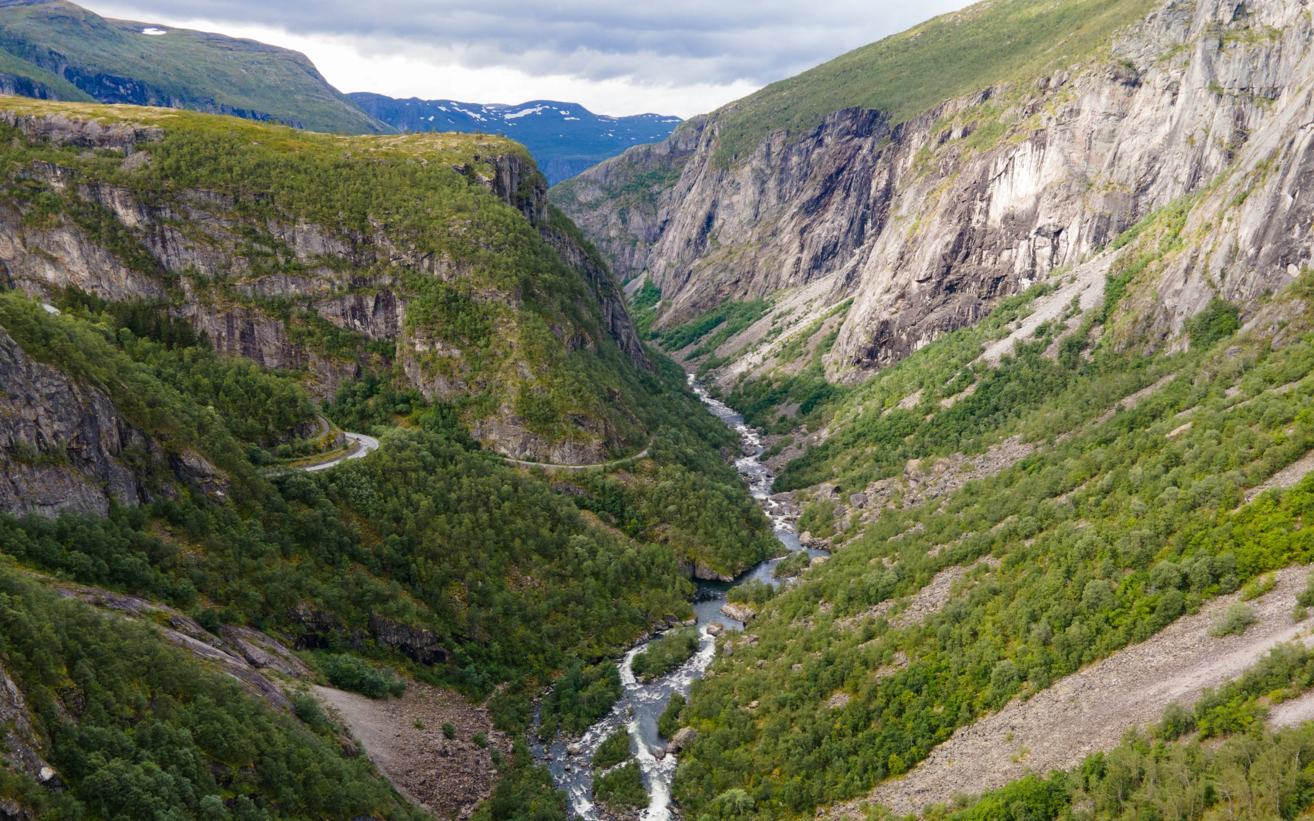 Panorama view of Måbødalen valley