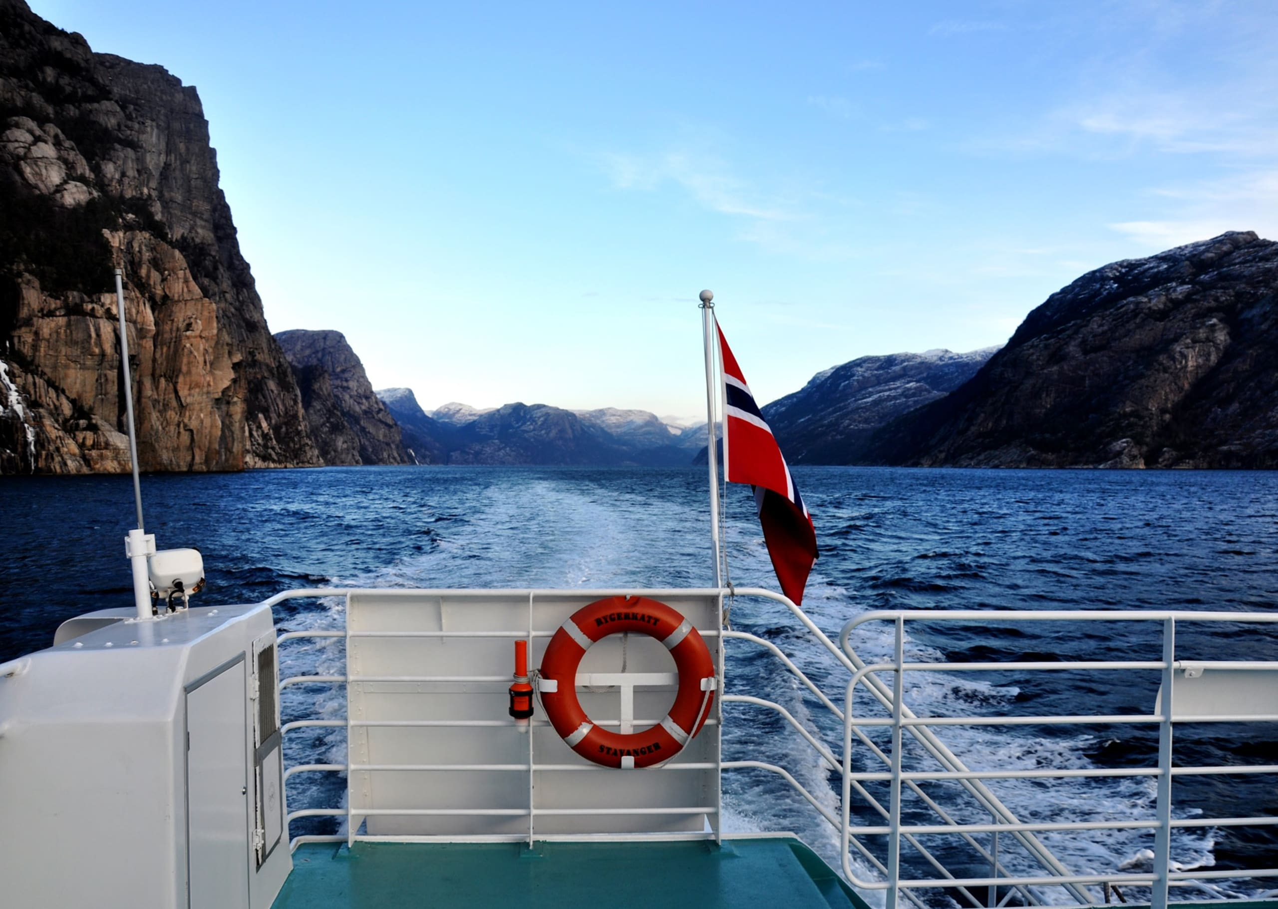 Lysefjord seen from Rygerelektra