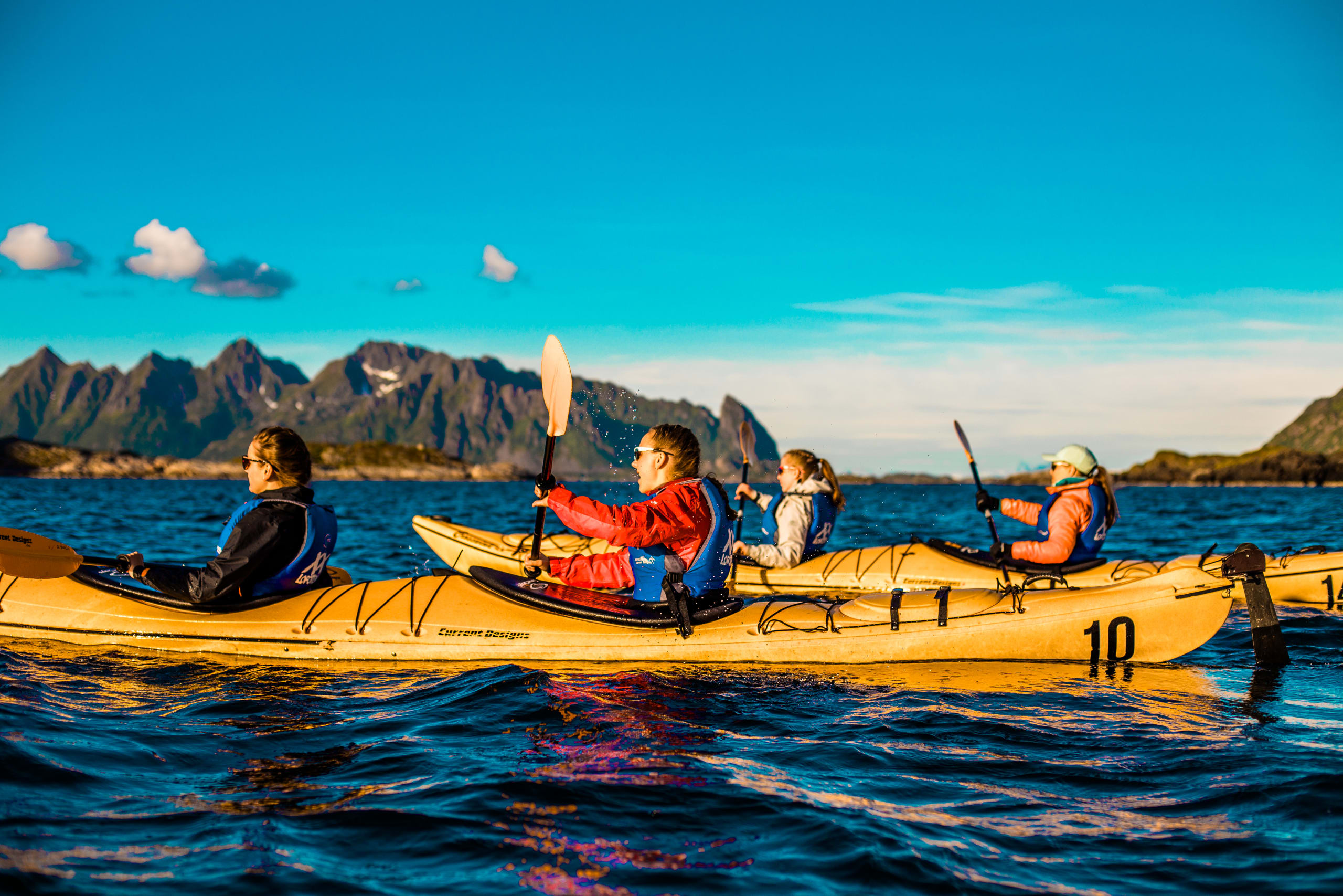 Evening kayaking in Lofoten