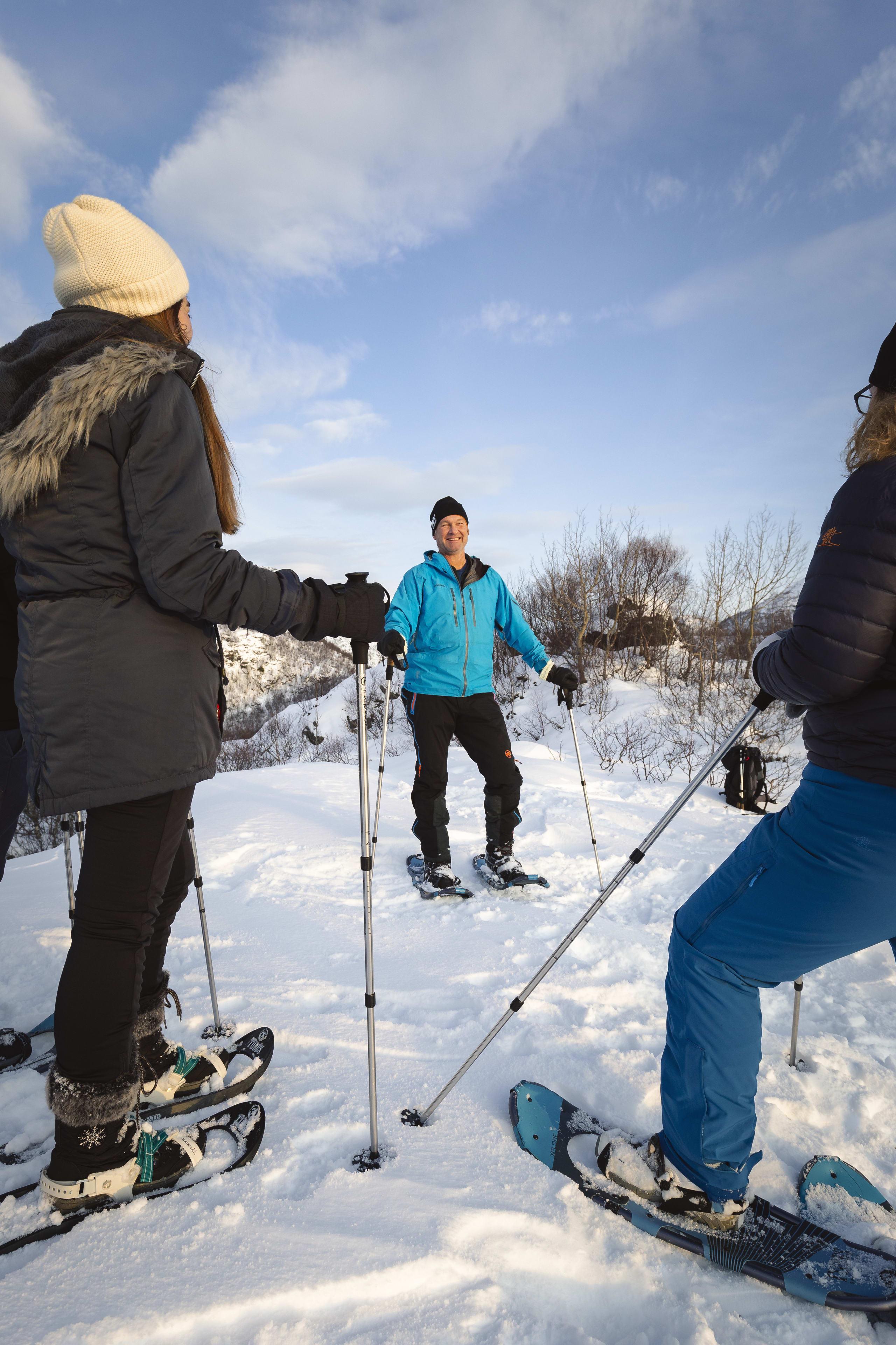 Snowshoeing in Lofoten