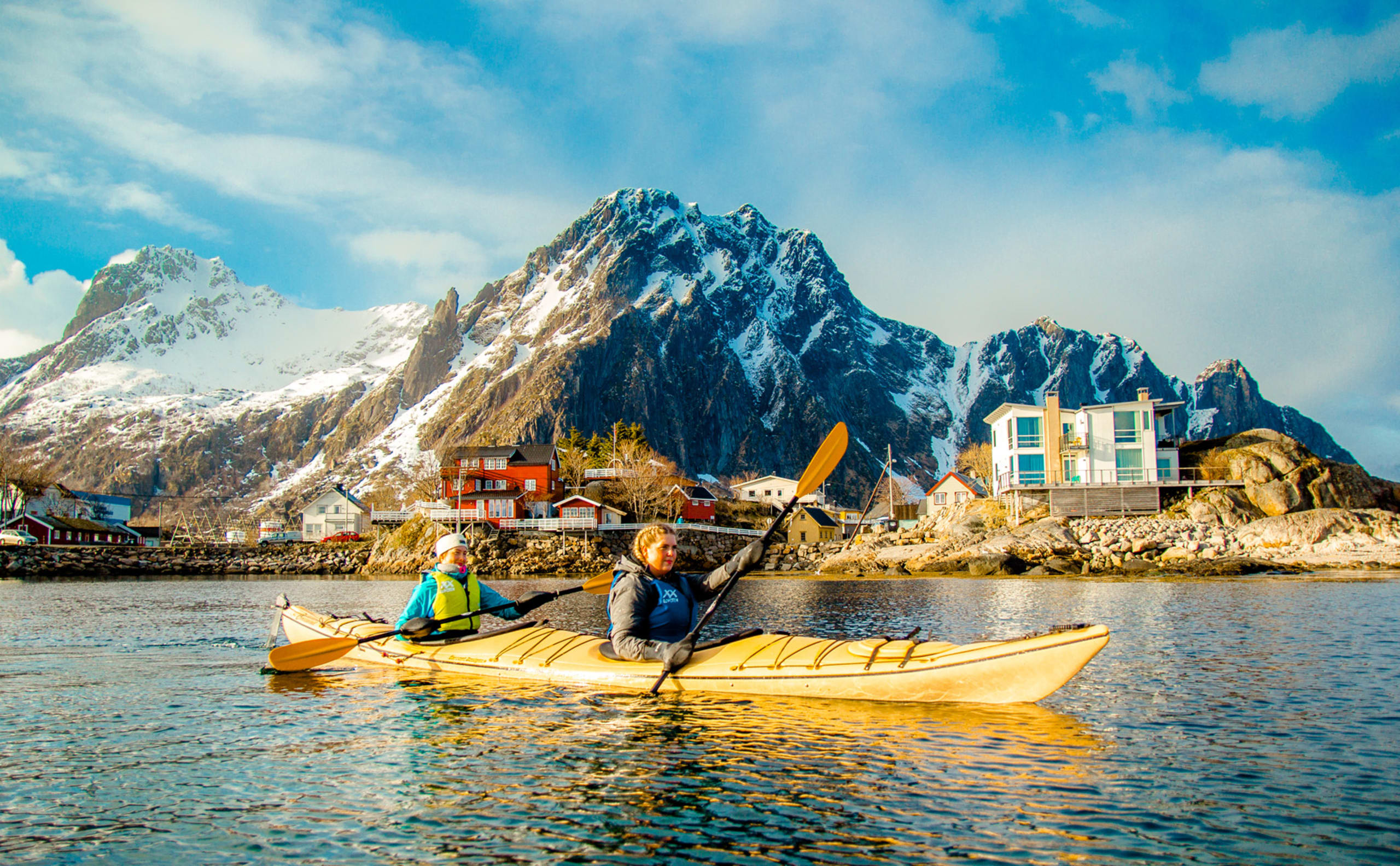 Winter kayaking in Lofoten