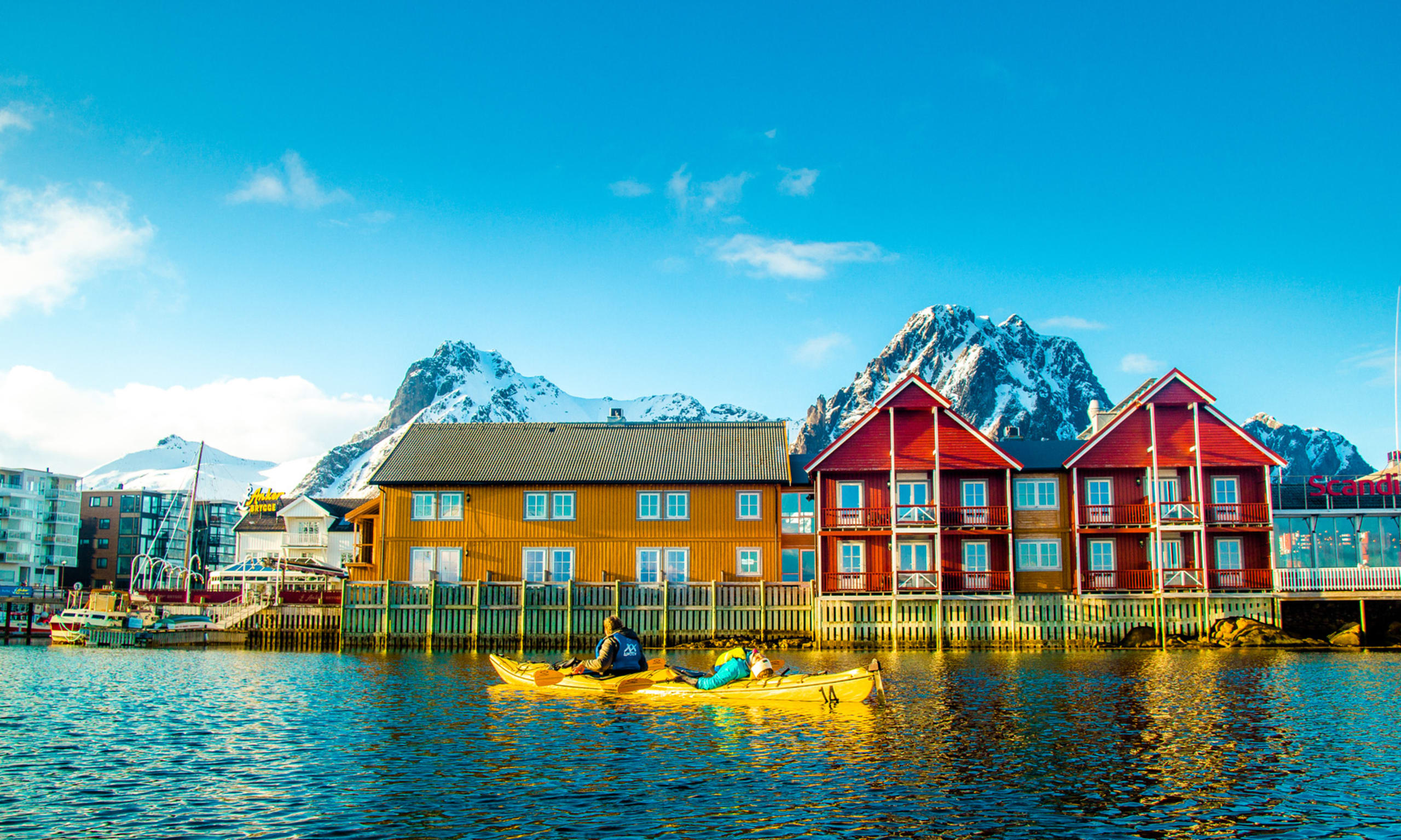 Winter kayaking in Svolvær