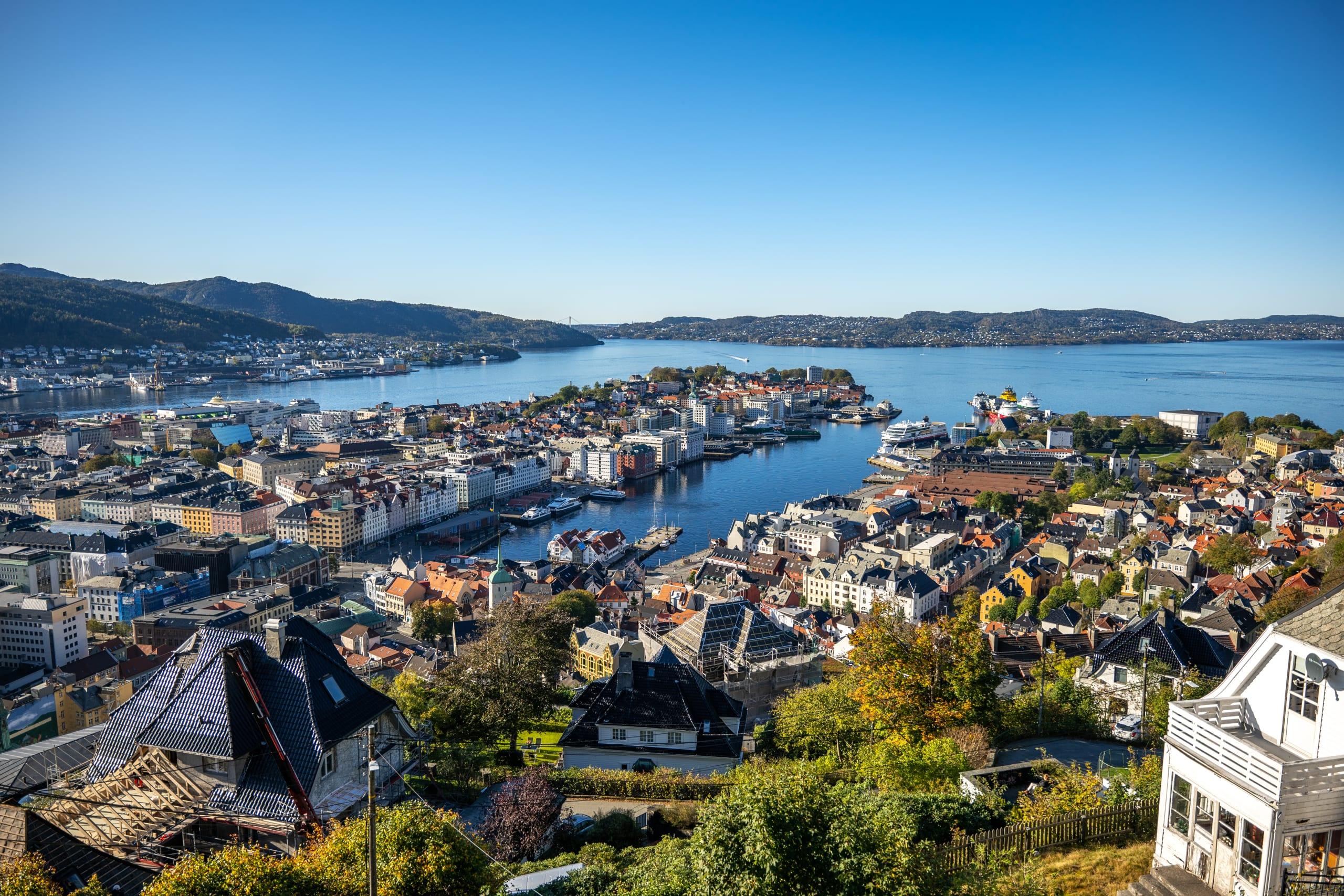 Bergen city panorama