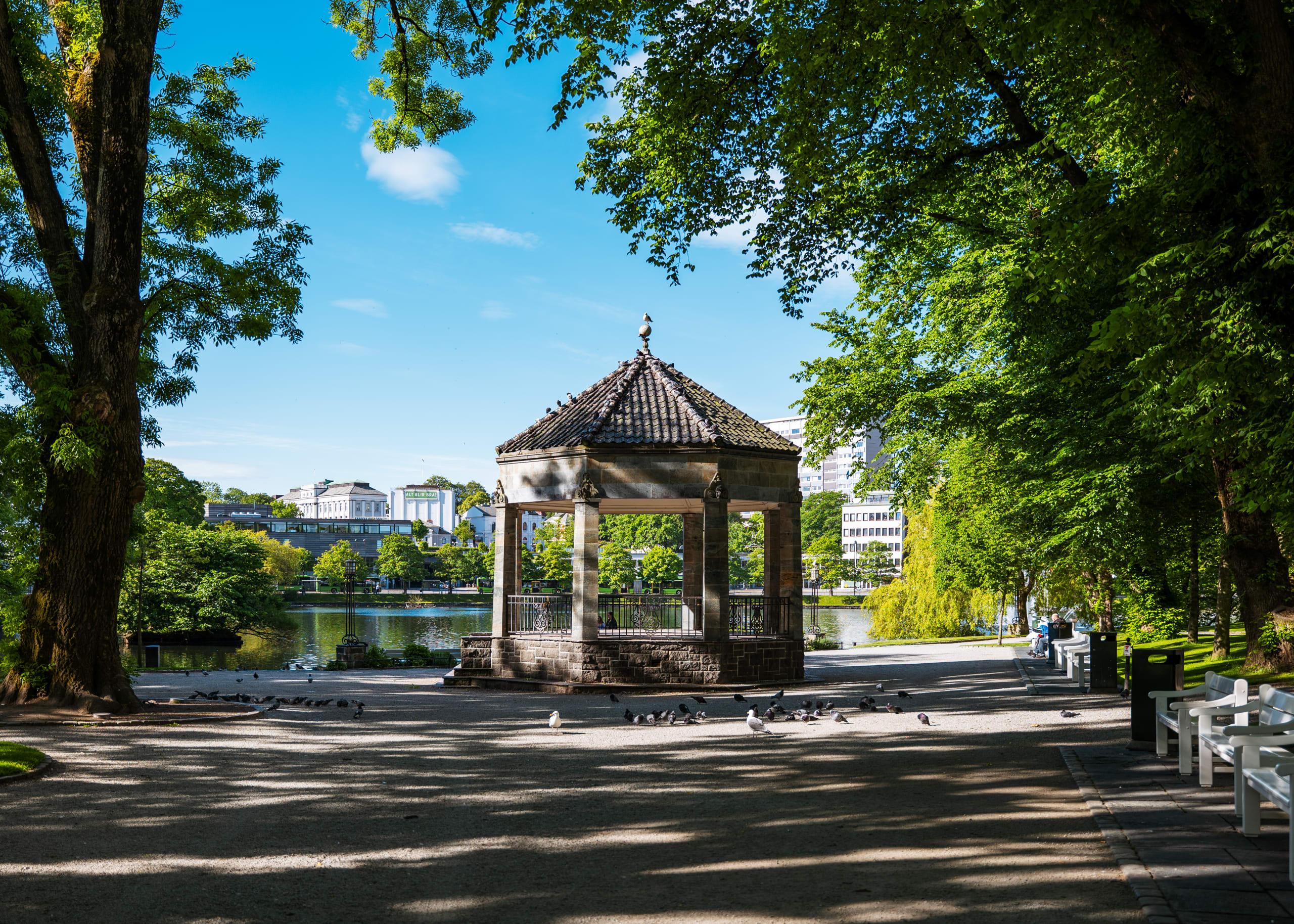 Pavilion in the city park of Stavanger